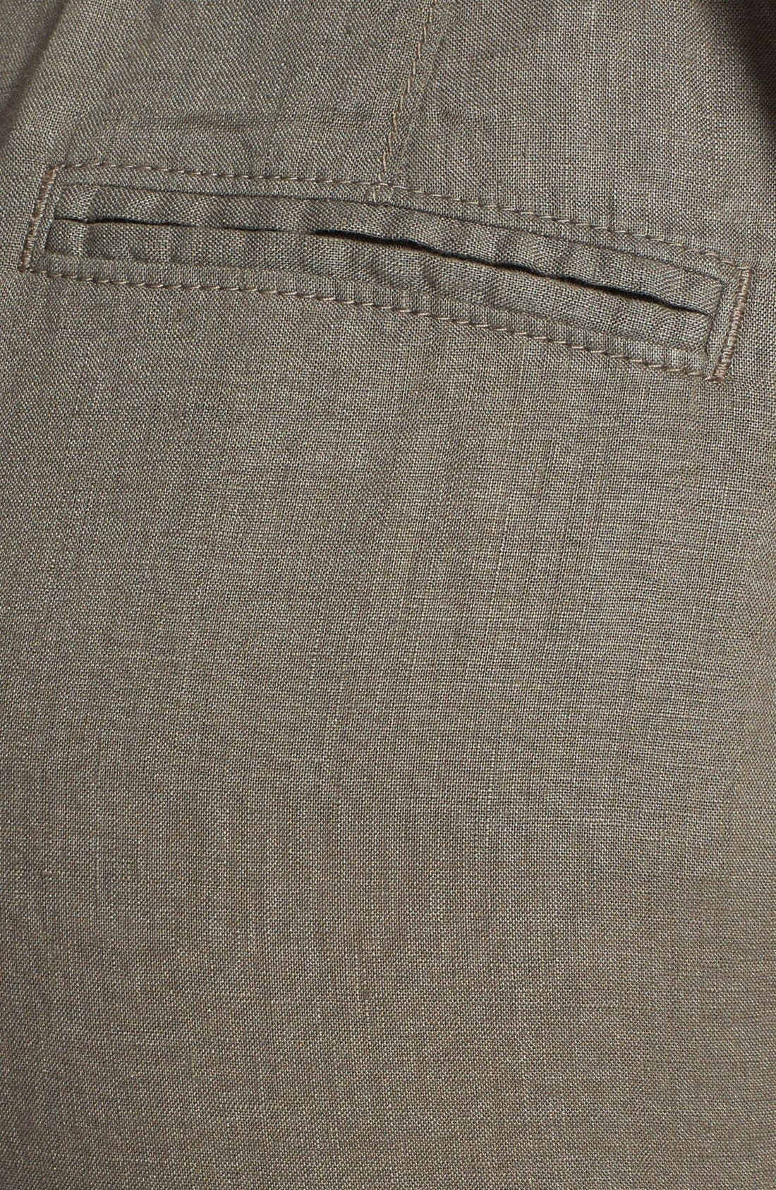 Alternate Image 3  - Caslon® Drawstring Waist Linen Pants (Regular & Petite)