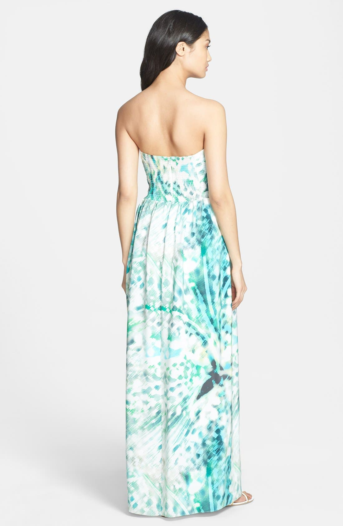 Alternate Image 2  - Parker 'Bayou' Strapless Silk Maxi Dress