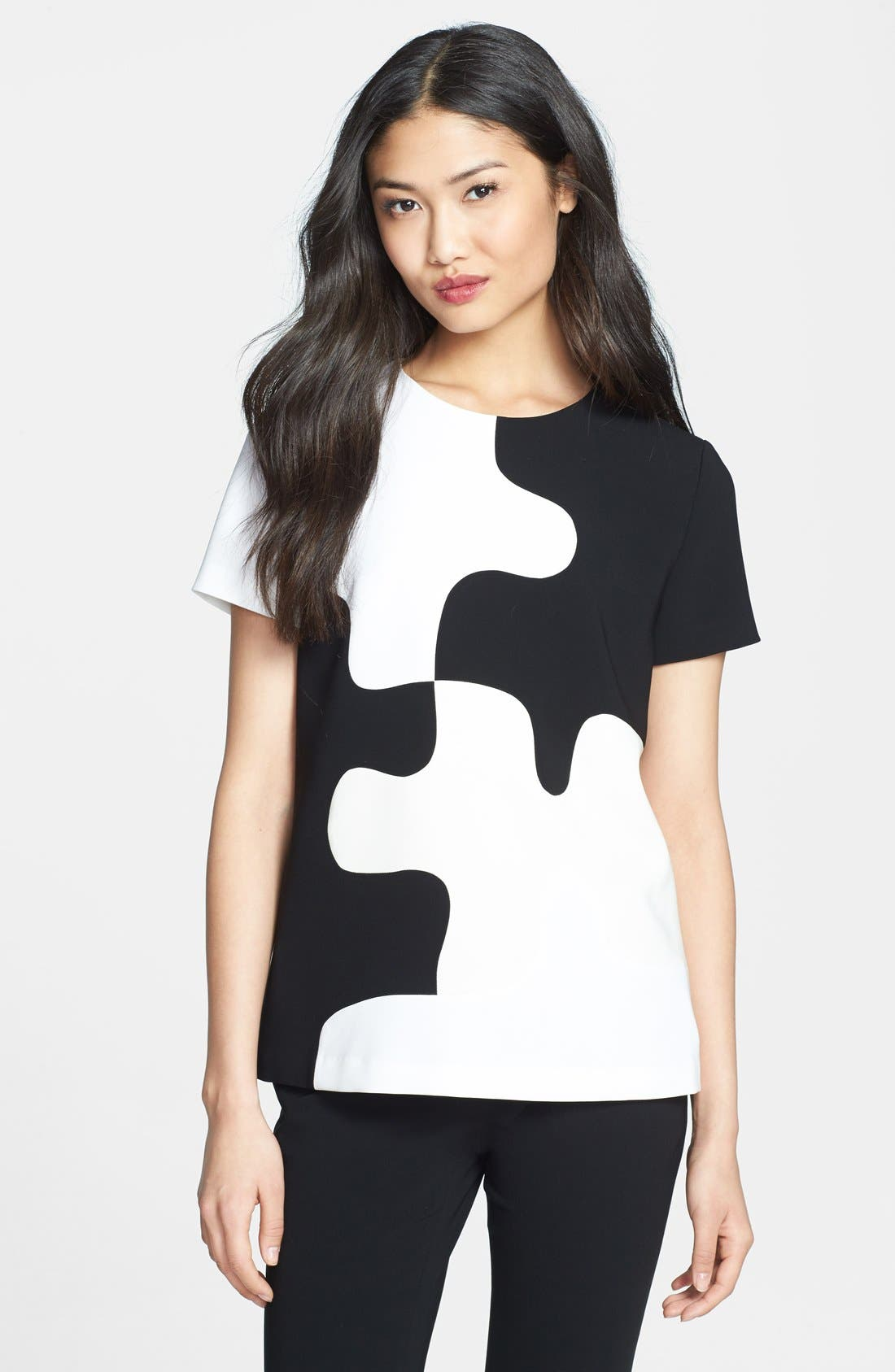 Alternate Image 1 Selected - Diane von Furstenberg 'Mel' Colorblock Top