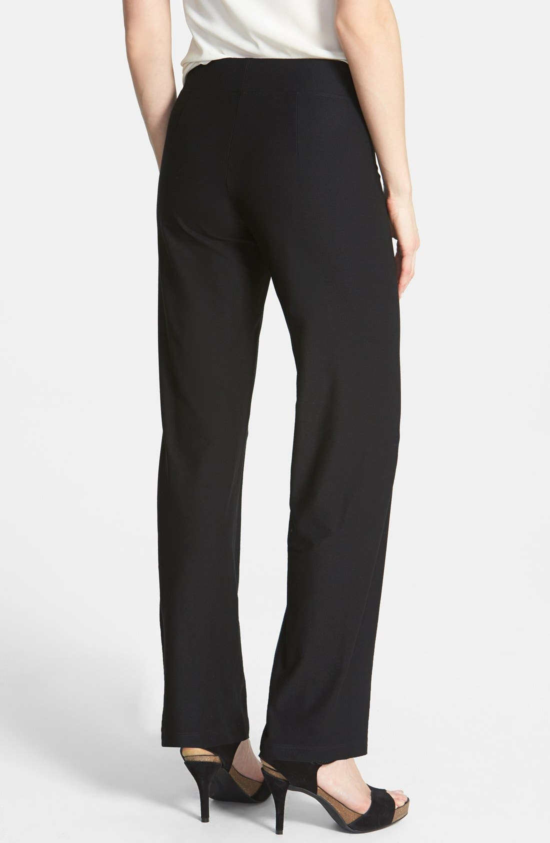 Alternate Image 2  - Eileen Fisher Straight Leg Crepe Pants (Regular & Petite)