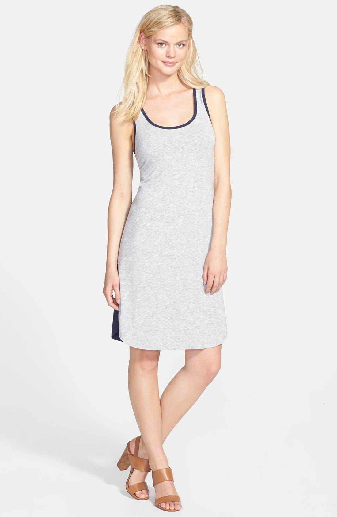 Alternate Image 1 Selected - Caslon® Colorblock Tank Dress (Regular & Petite)