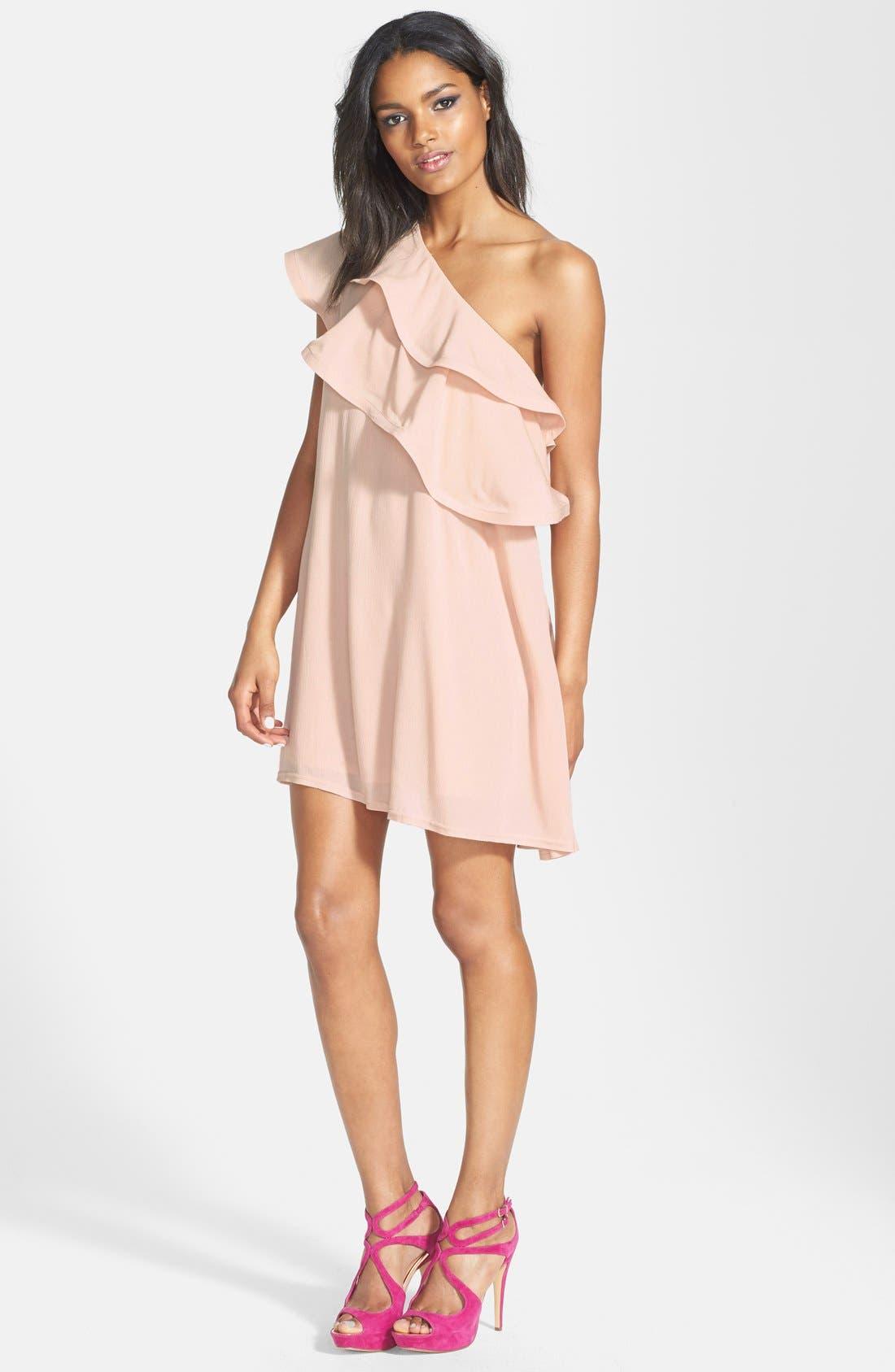 Main Image - Dirty Ballerina Ruffle One-Shoulder Dress