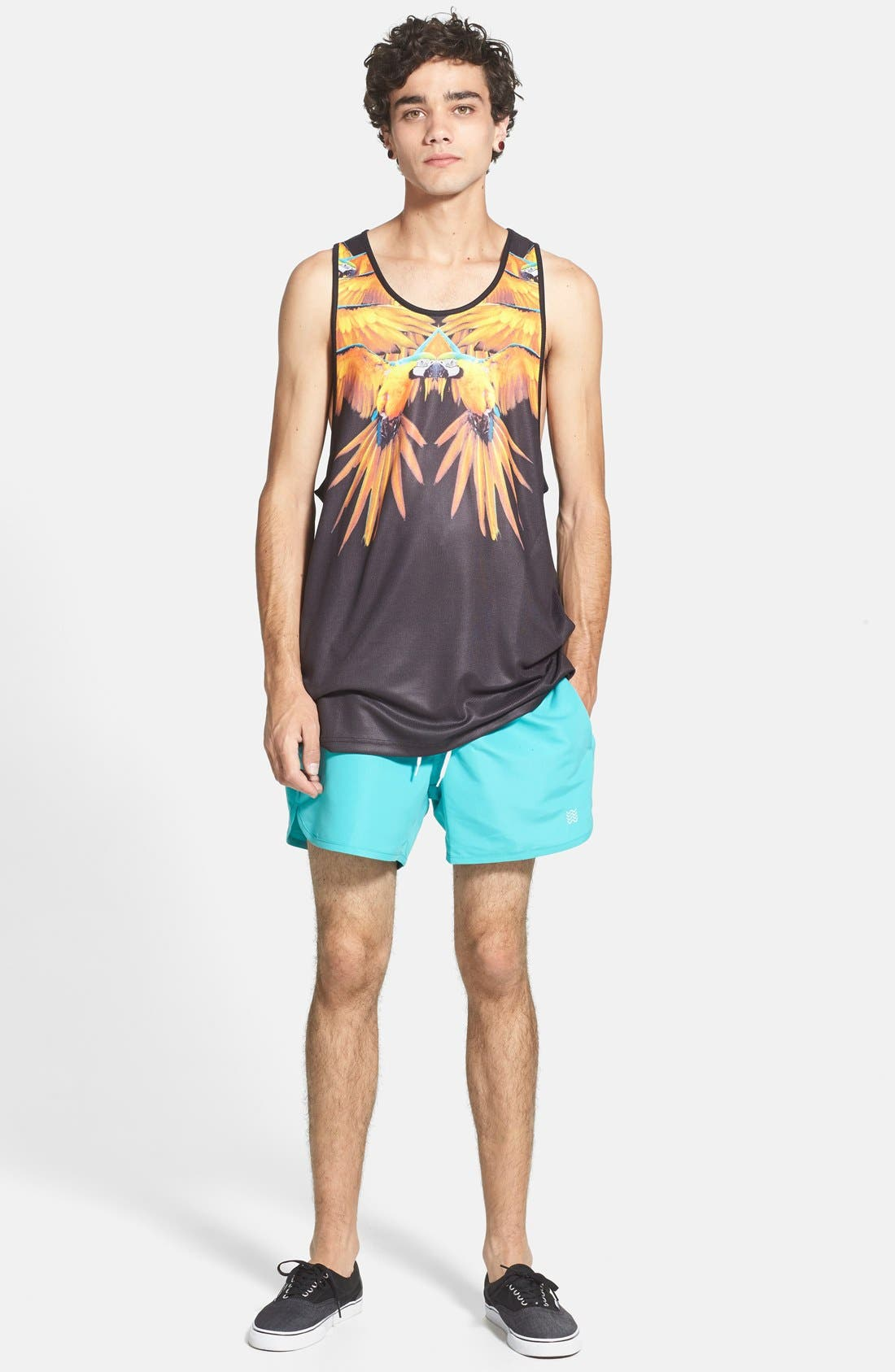 Alternate Image 4  - Topman Swim Trunks