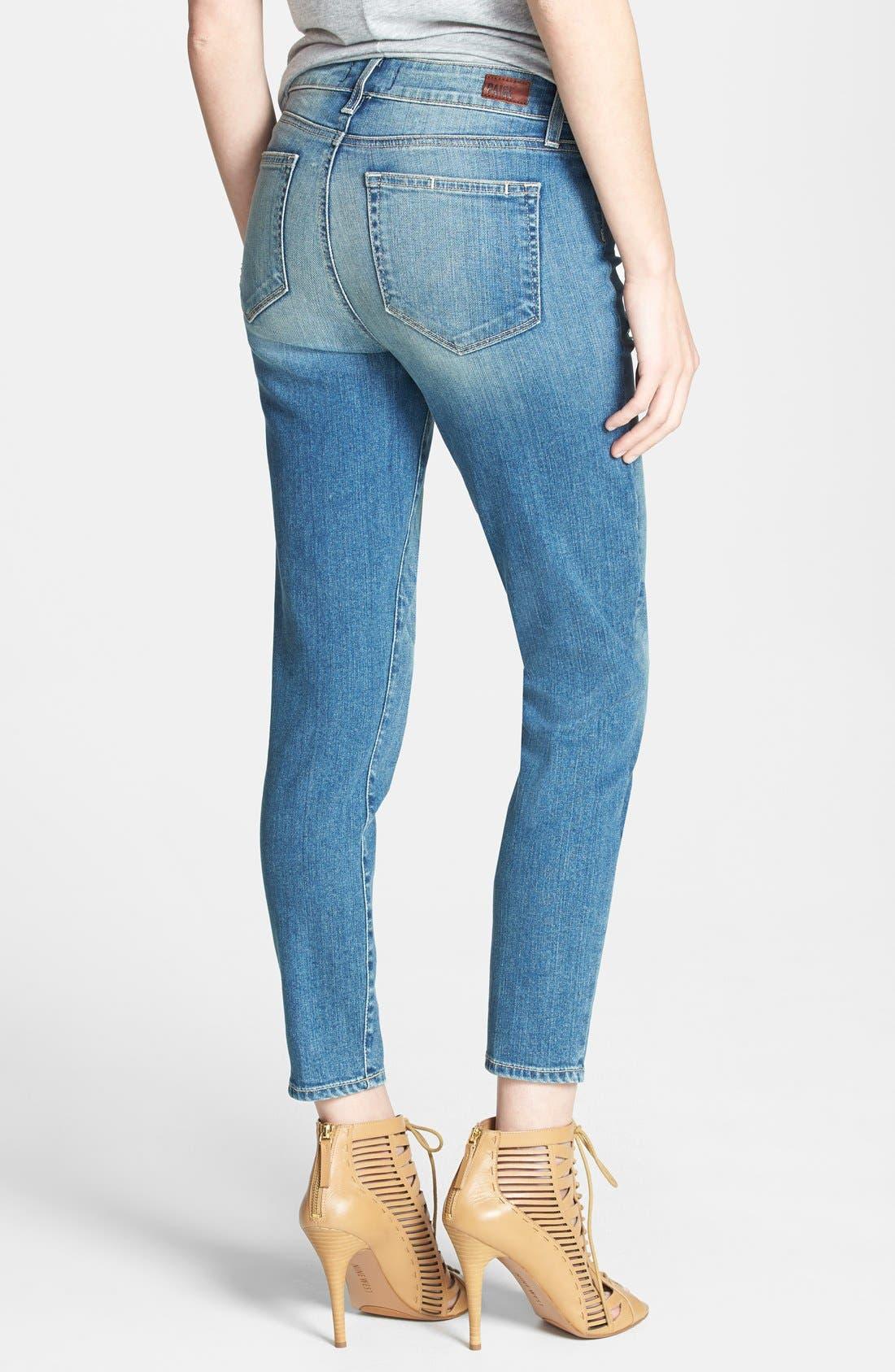 Alternate Image 2  - Paige Denim 'Hoxton' Distressed High Rise Crop Jeans