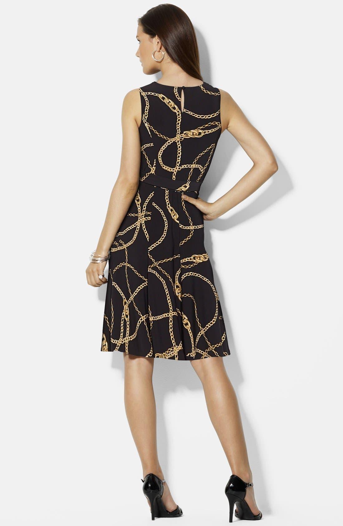Alternate Image 2  - Lauren Ralph Lauren Belted Print Jersey Dress
