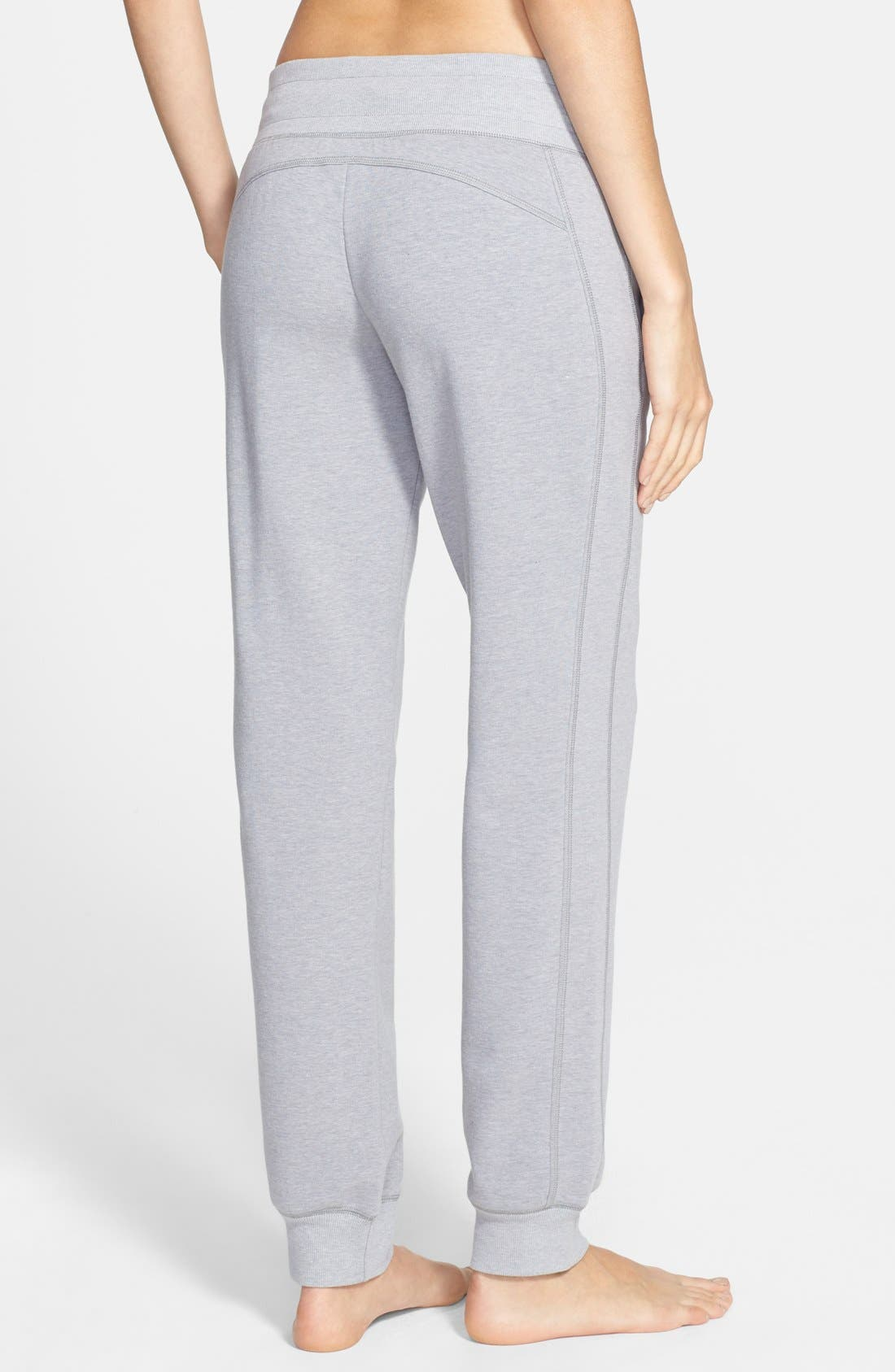 Alternate Image 2  - Zella Low Rise Skinny Fleece Sweatpants (Online Only)
