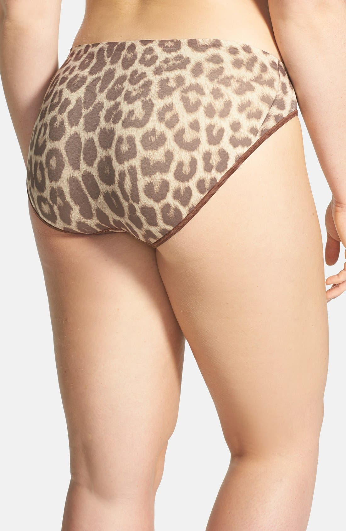 Alternate Image 2  - Shimera Print Seamless High Cut Briefs (Plus Size) (3 for $30)
