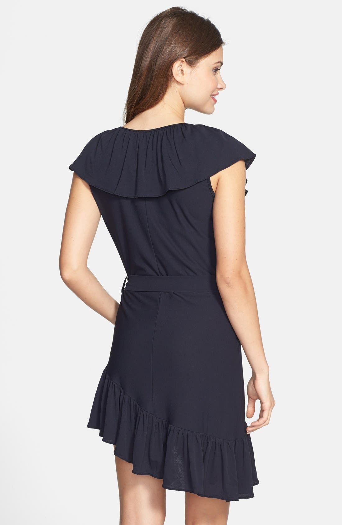 Alternate Image 2  - Luli Fama 'Unwrap Me' Asymmetrical Ruffle Dress