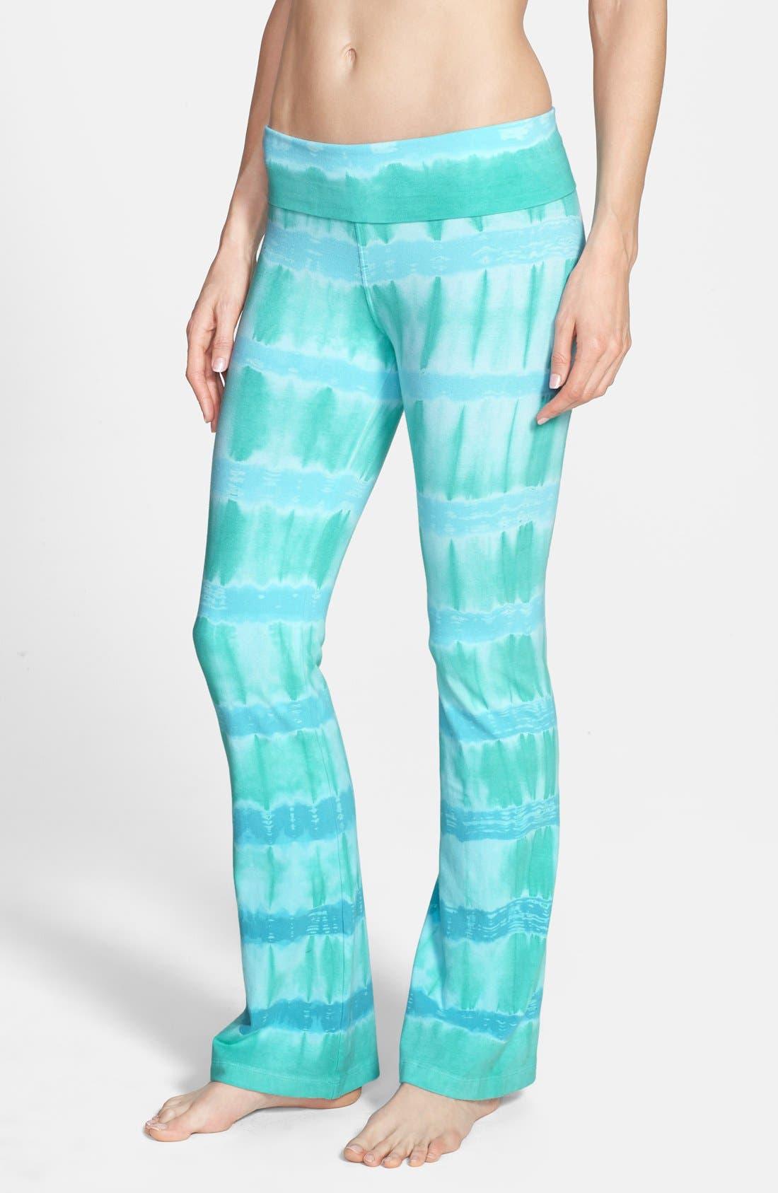 Main Image - Hard Tail Roll Waist Bootleg Flare Pants