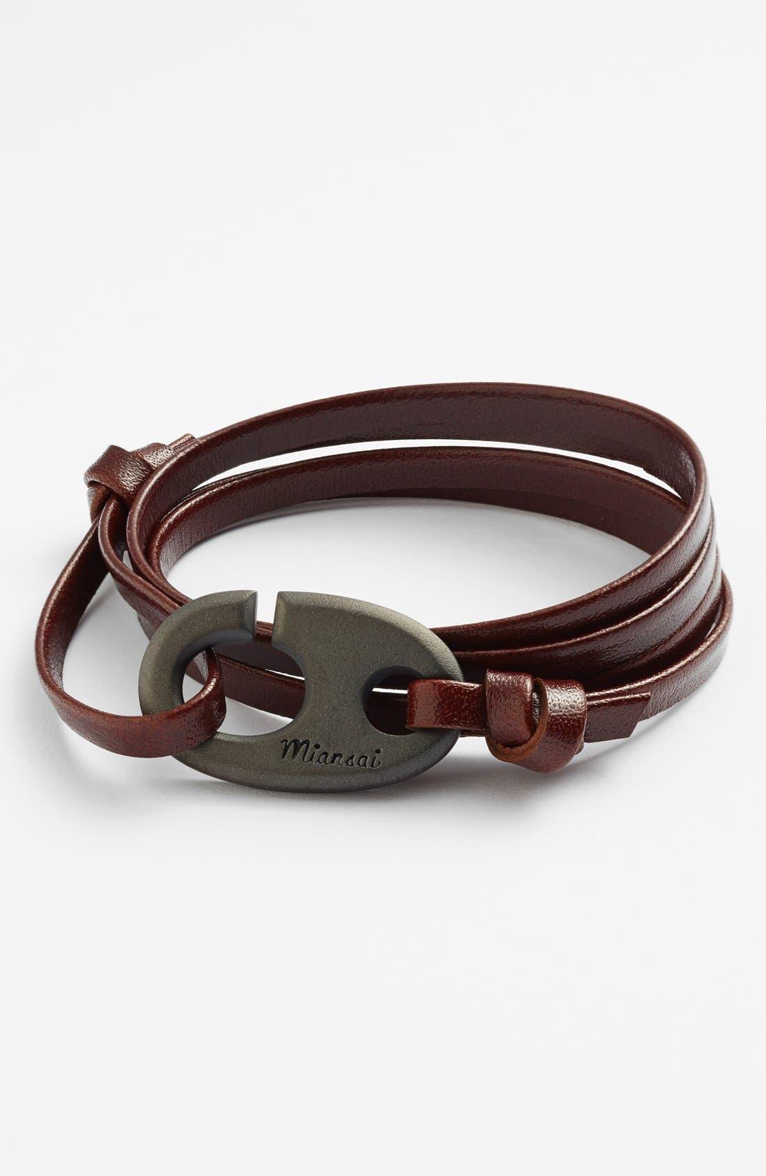 Alternate Image 1 Selected - Miansai Brummel Hook Leather Bracelet