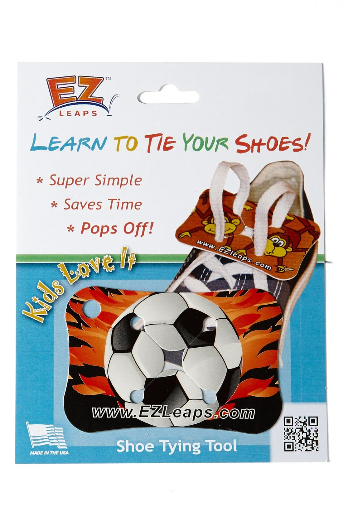 Alternate Image 1 Selected - EZ Leaps 'Soccer Ball' Shoe Tying Tool