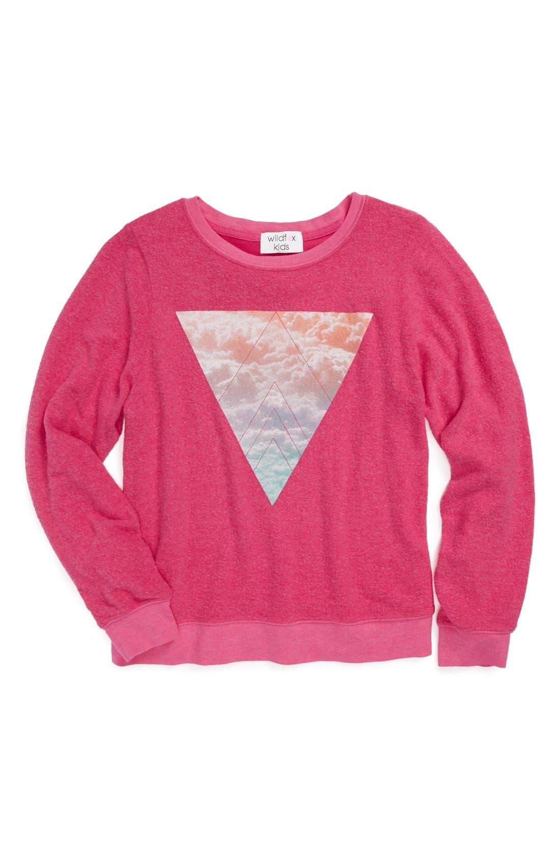 Alternate Image 1 Selected - Wildfox 'Pastel Prism' Sweatshirt (Big Girls)
