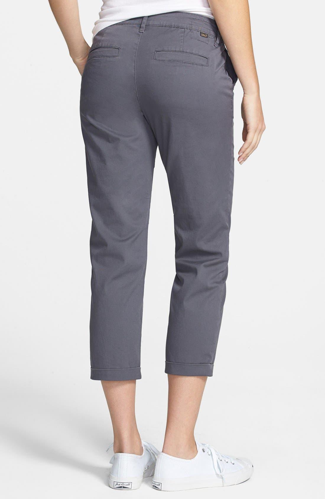 Alternate Image 2  - Jag Jeans 'Cora' Slim Crop Stretch Twill Pants (Regular & Petite)