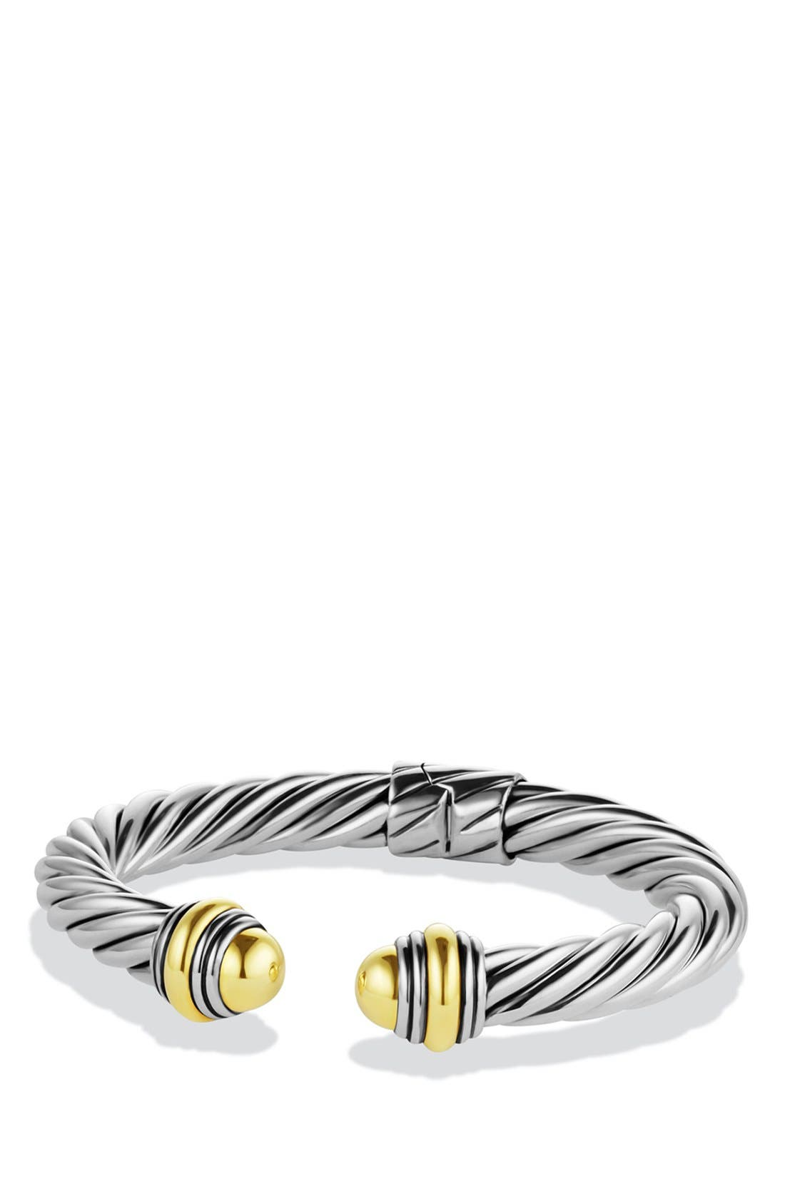 Alternate Image 1 Selected - David Yurman Cable Classics Bracelet with 14K Gold, 7mm