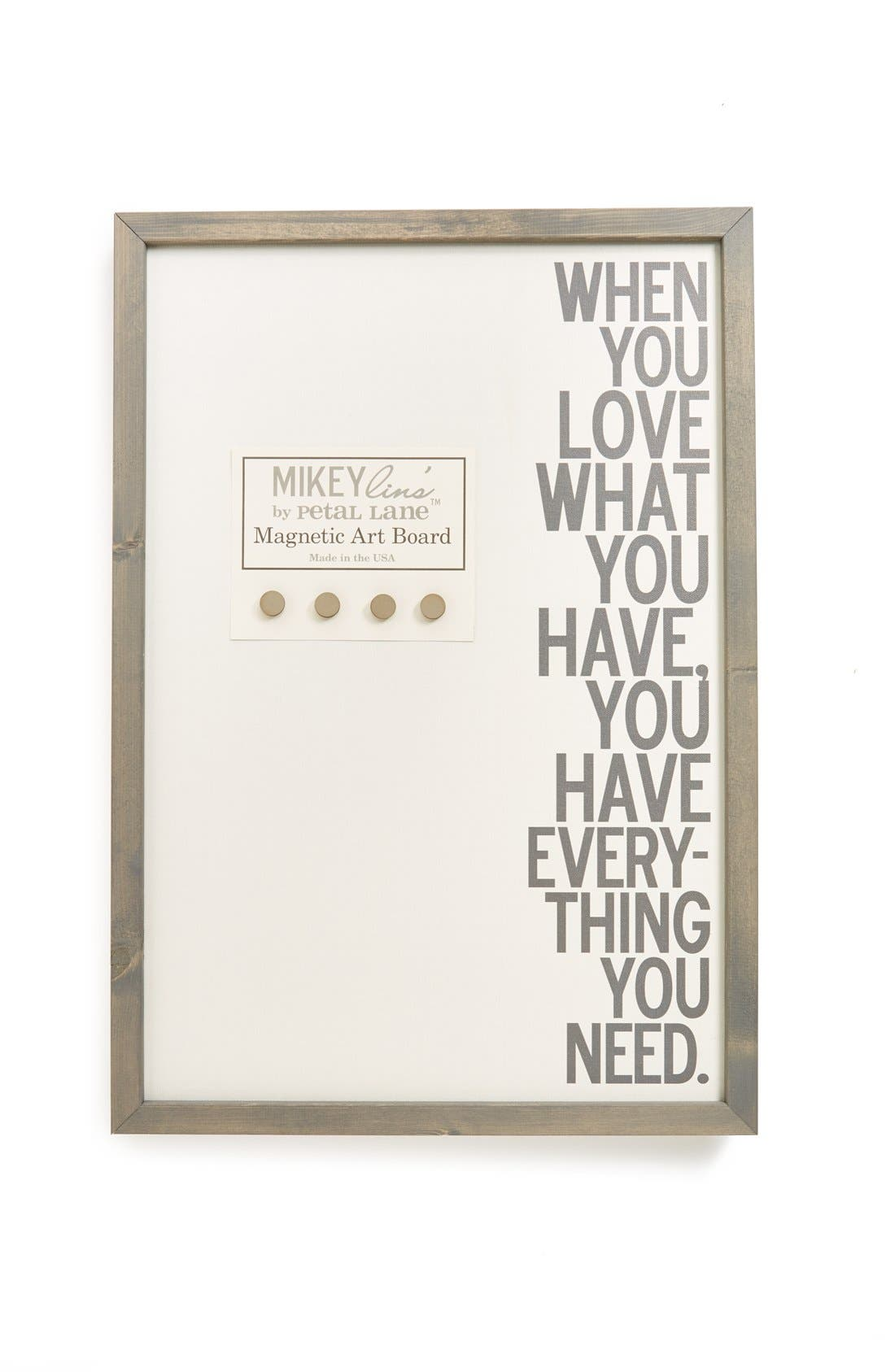 Main Image - Petal Lane 'When You Love What You Have' Magnet Board