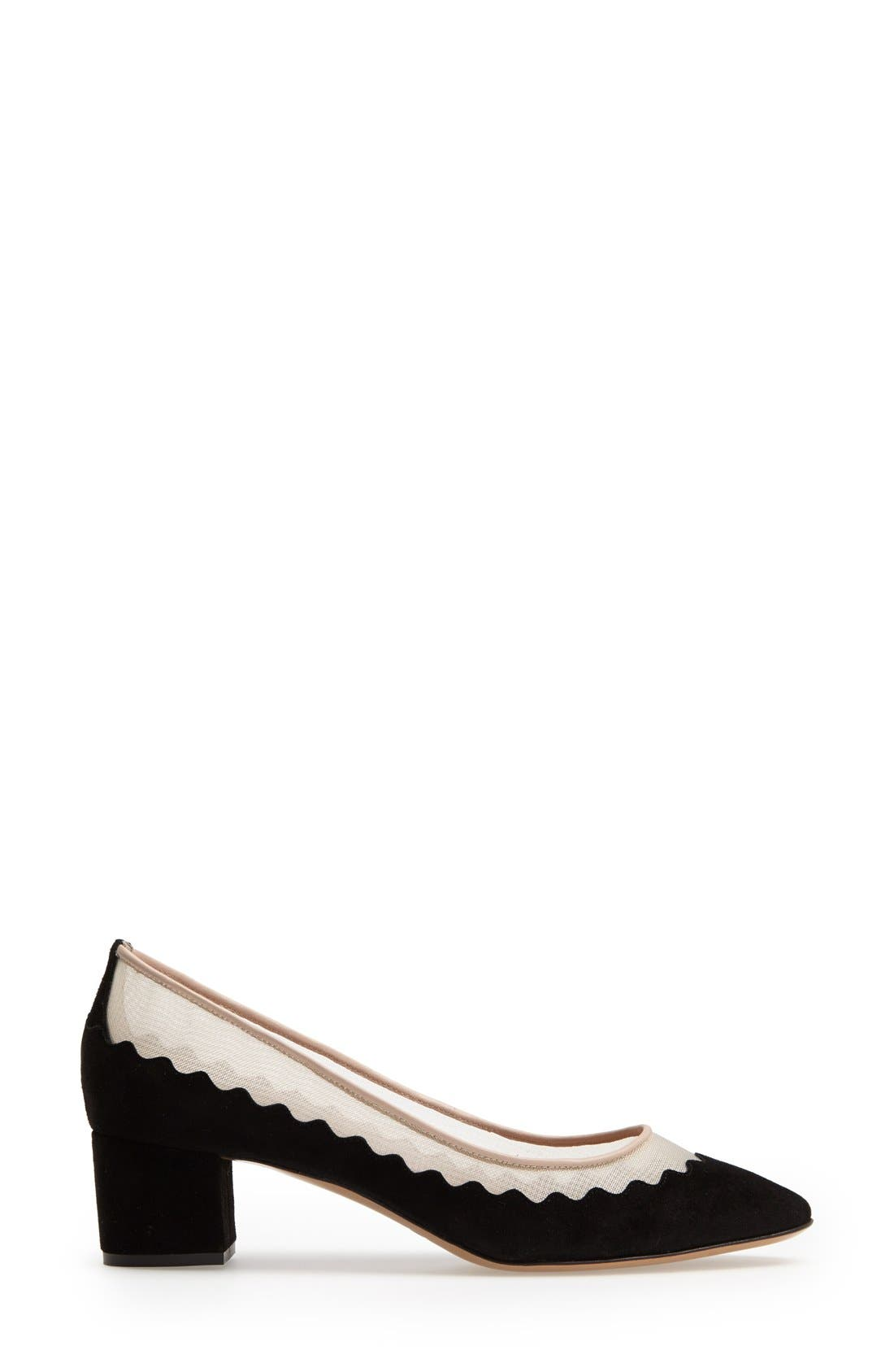 Alternate Image 4  - Chloé 'Bridget' Scalloped Almond Toe Pump (Women)