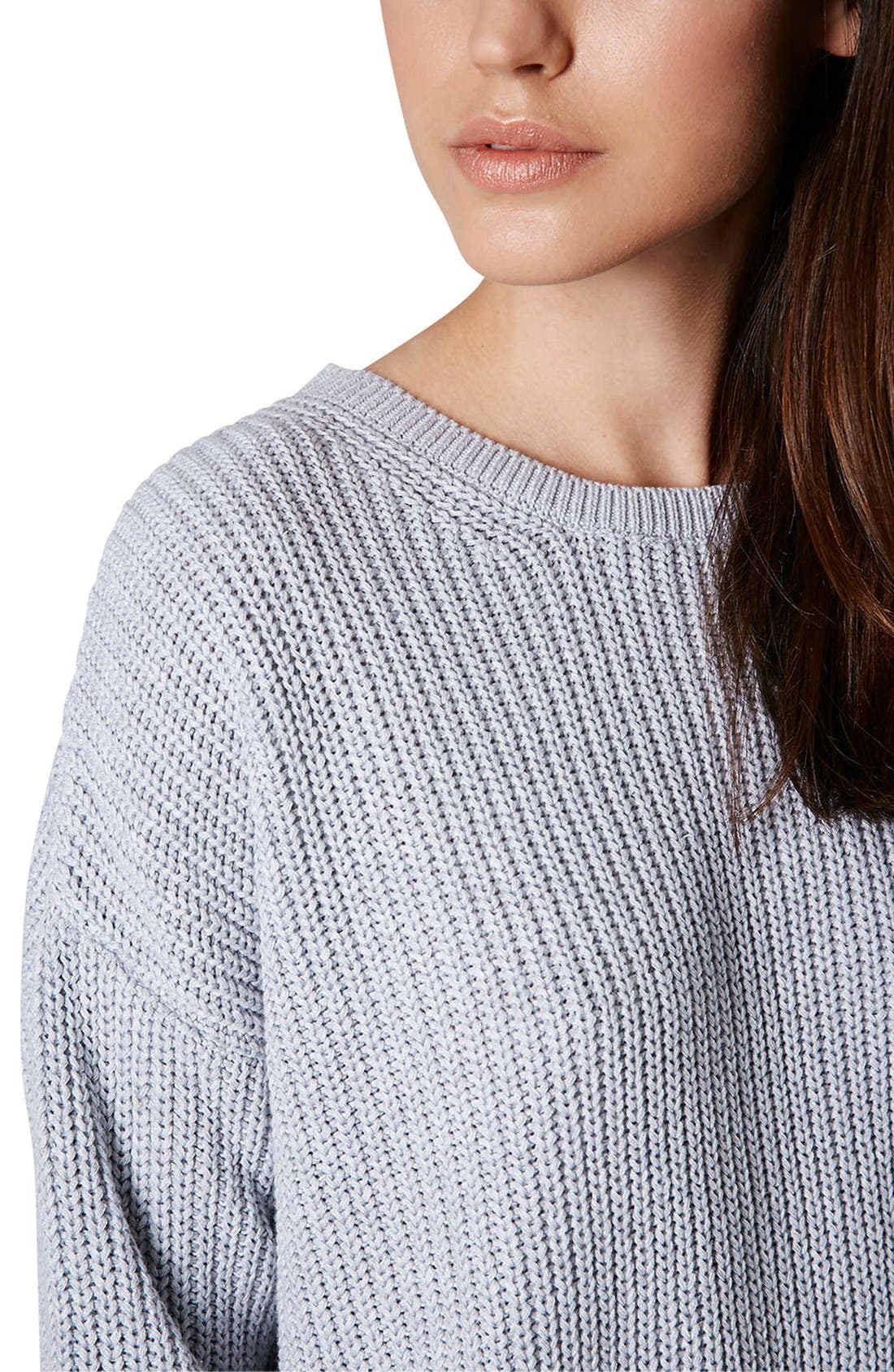 Alternate Image 4  - Topshop Ribbed Cotton Sweater