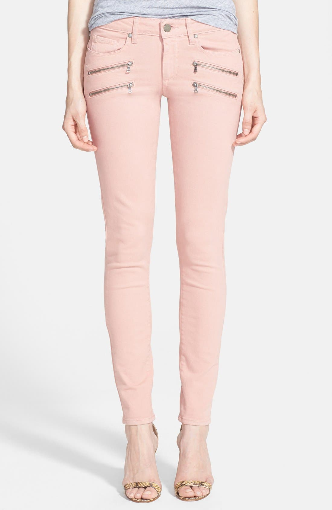 Alternate Image 1 Selected - Paige Denim 'Edgemont' Ultra Skinny Jeans (Ballet Pink)