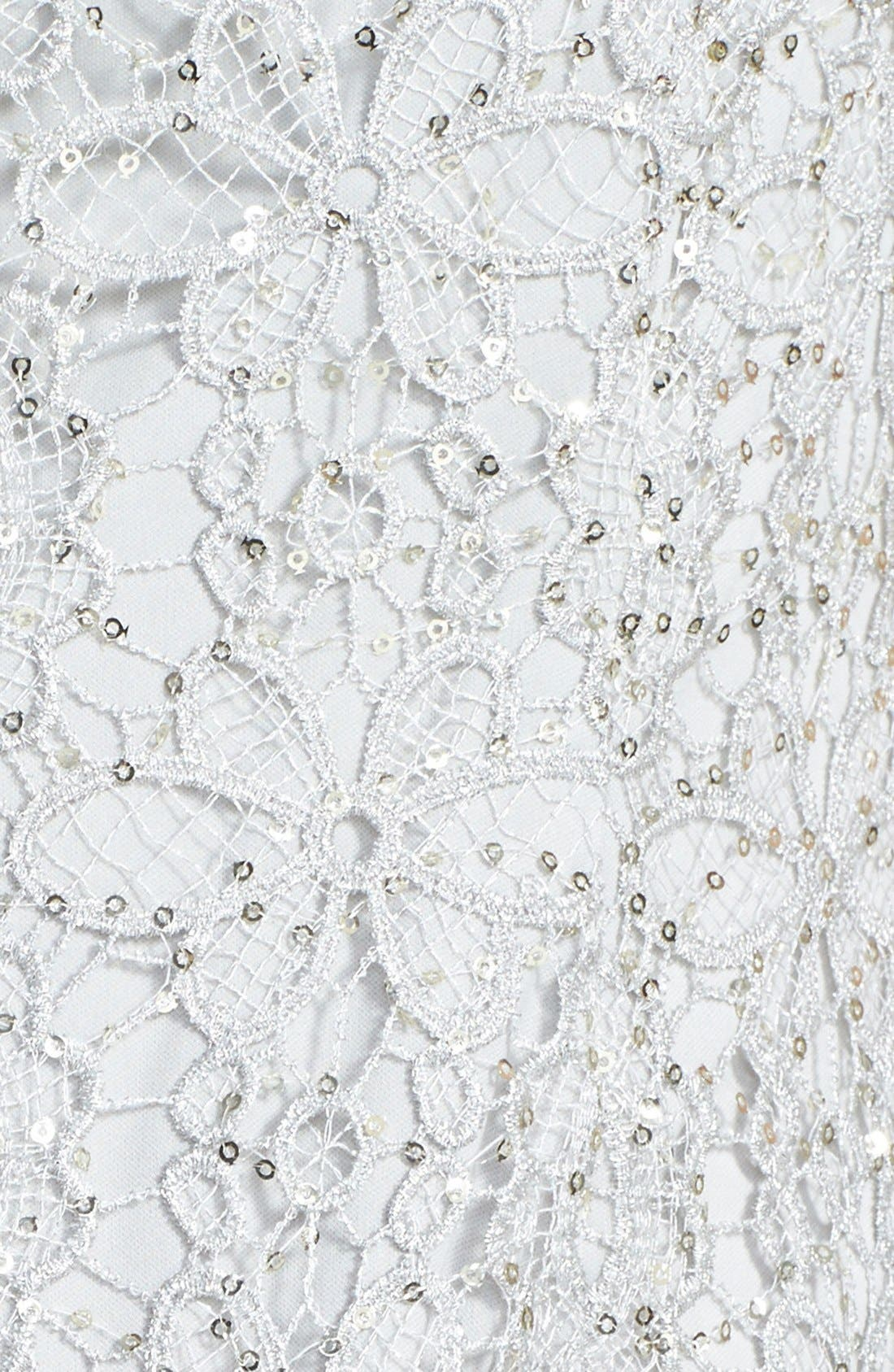 Alternate Image 4  - Adrianna Papell Sequin Lace Sheath Dress (Regular & Petite)
