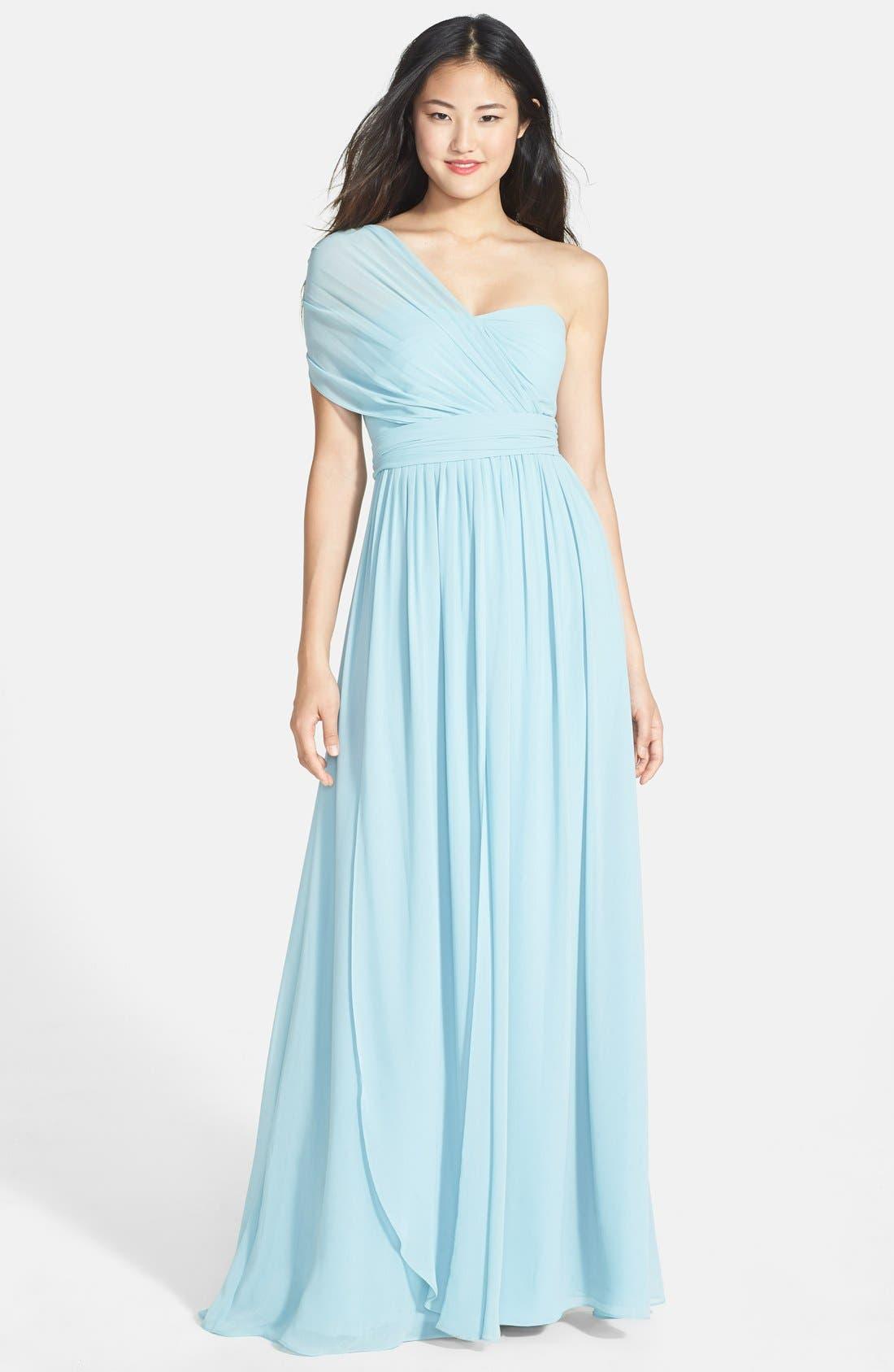 Alternate Image 3  - Jenny Yoo 'Aidan' Convertible Strapless Chiffon Gown