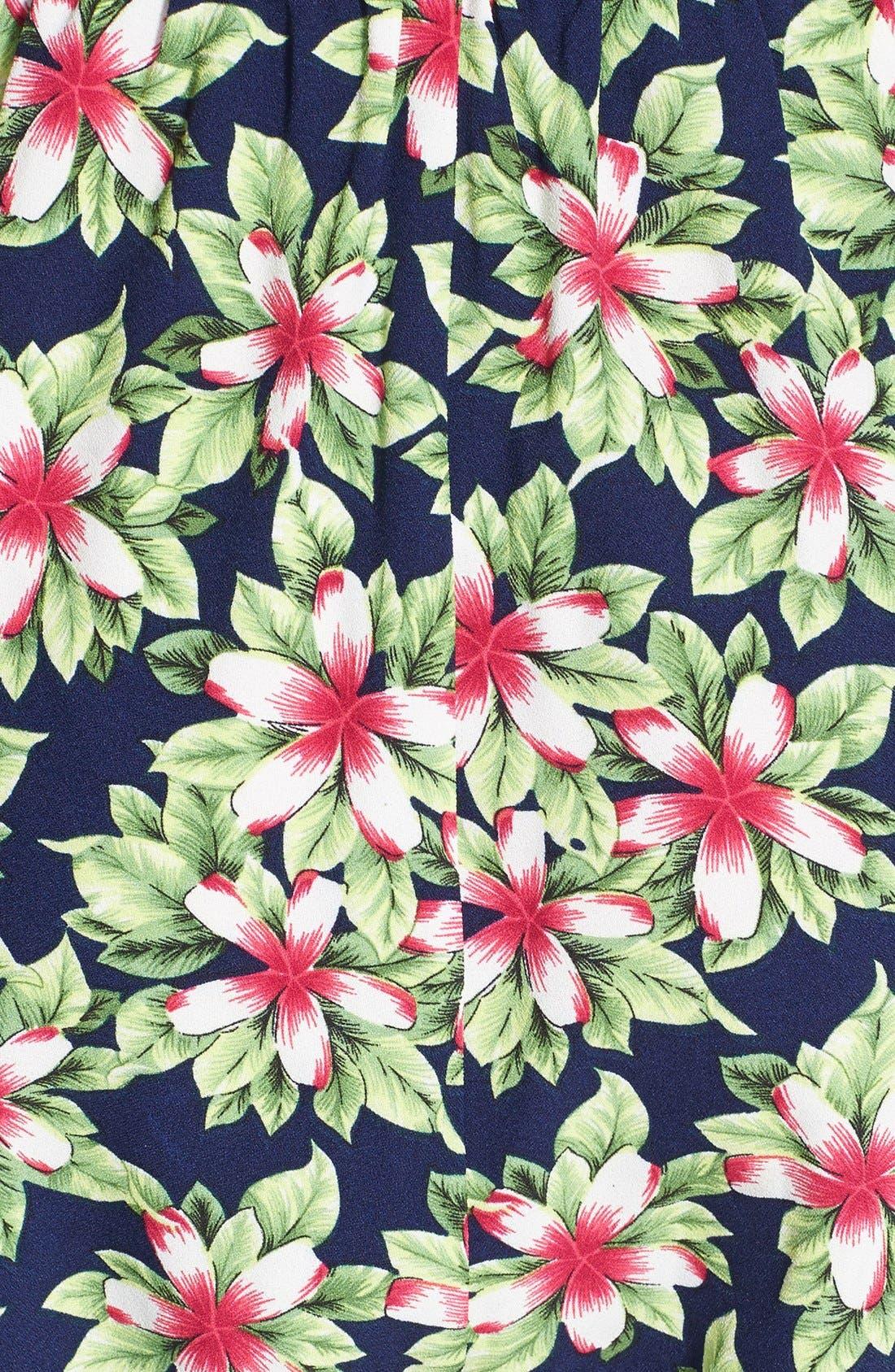 Print Jumpsuit,                             Alternate thumbnail 3, color,                             Navy Exotic Flower