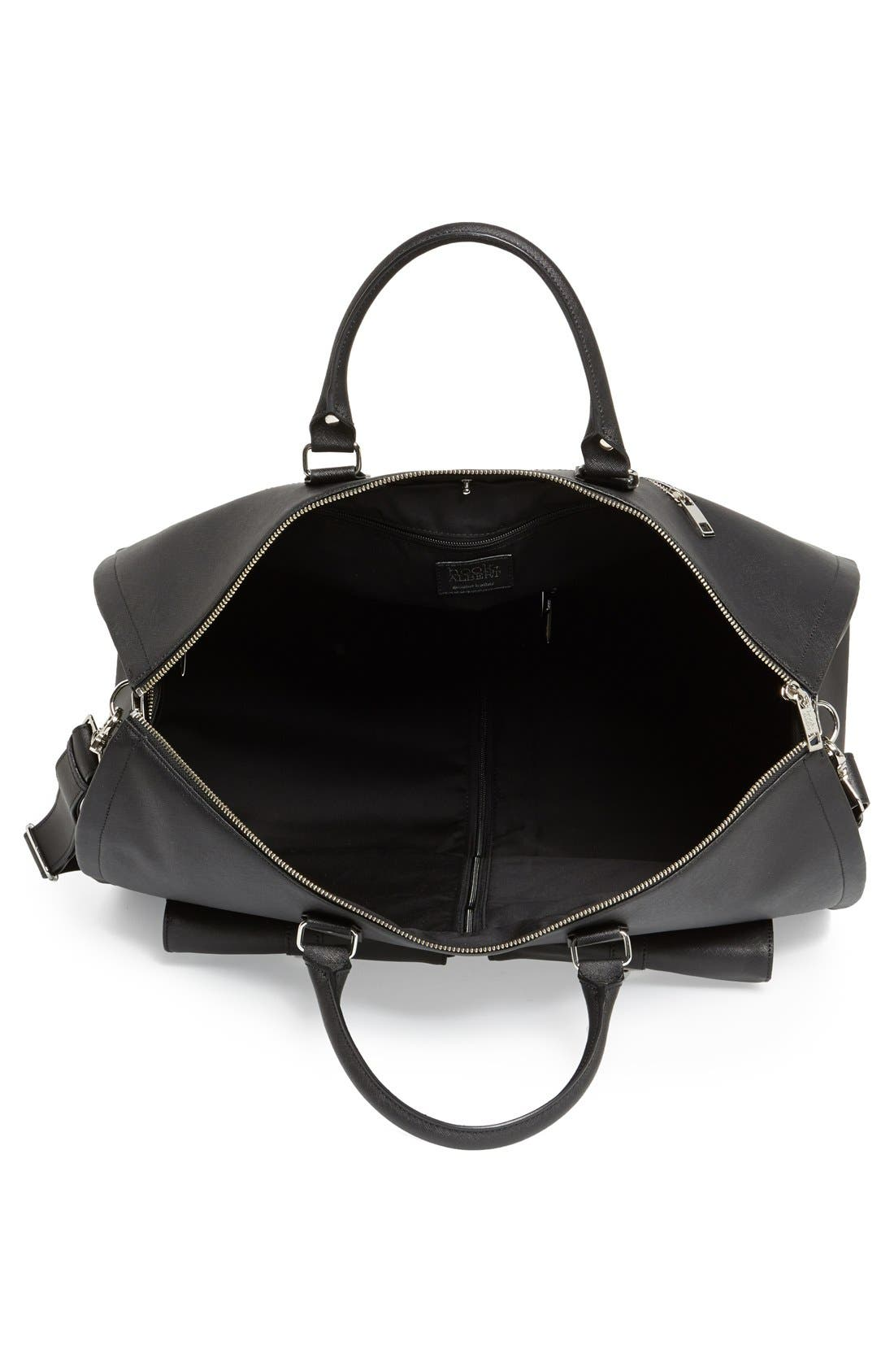 Alternate Image 4  - hook + ALBERT Saffiano Leather Garment/Duffel Bag