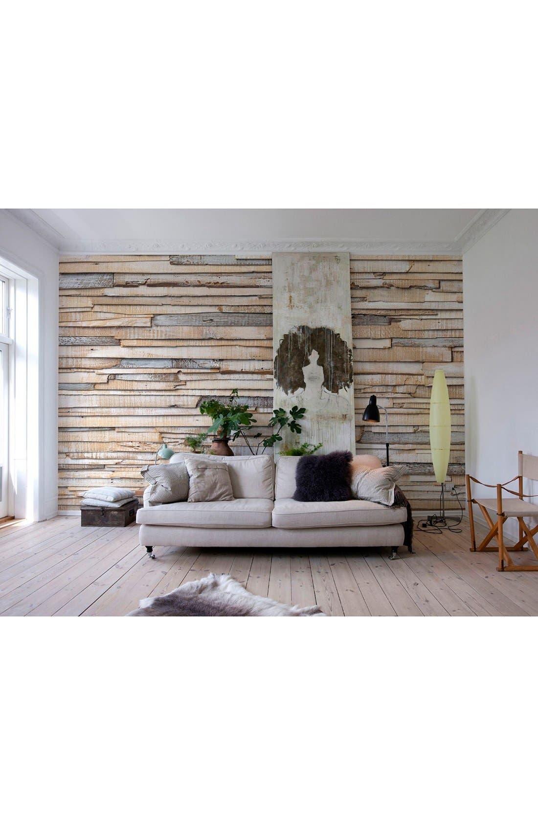 Alternate Image 2  - Wallpops Whitewashed Wood Wall Mural