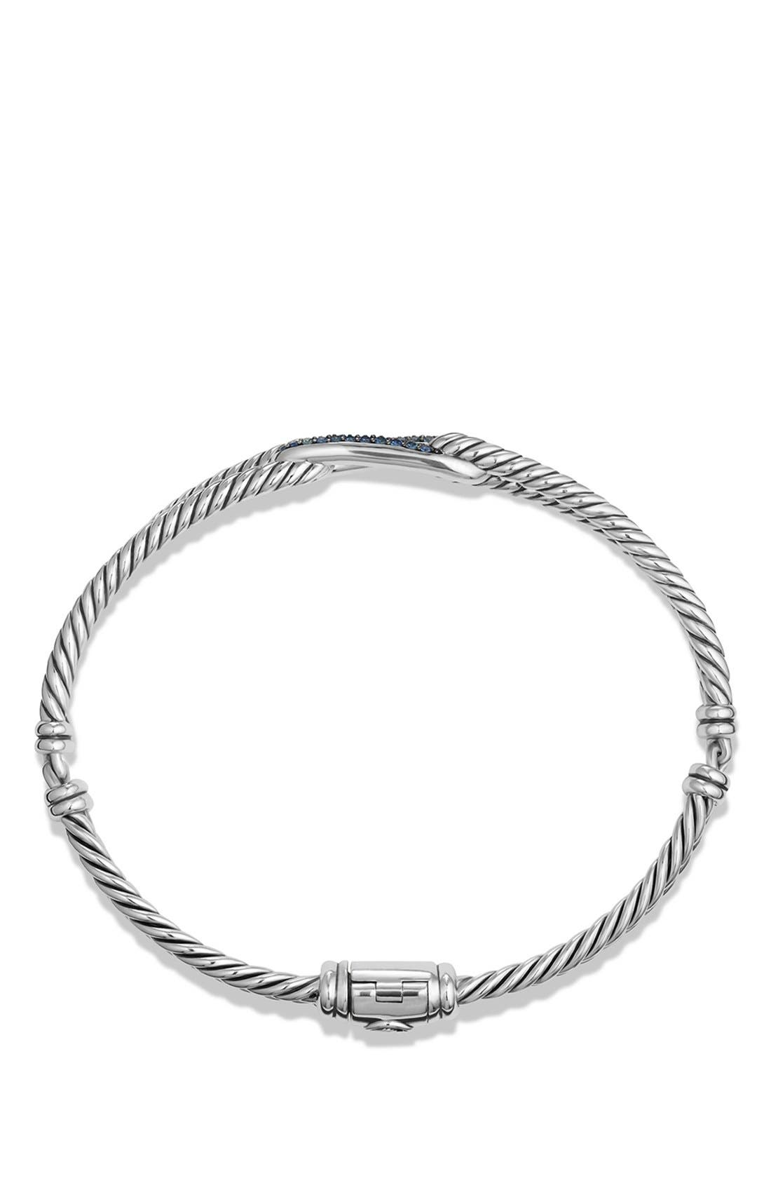 Alternate Image 2  - David Yurman 'Labyrinth' Petite Pavé Single-Loop Bracelet with Sapphires