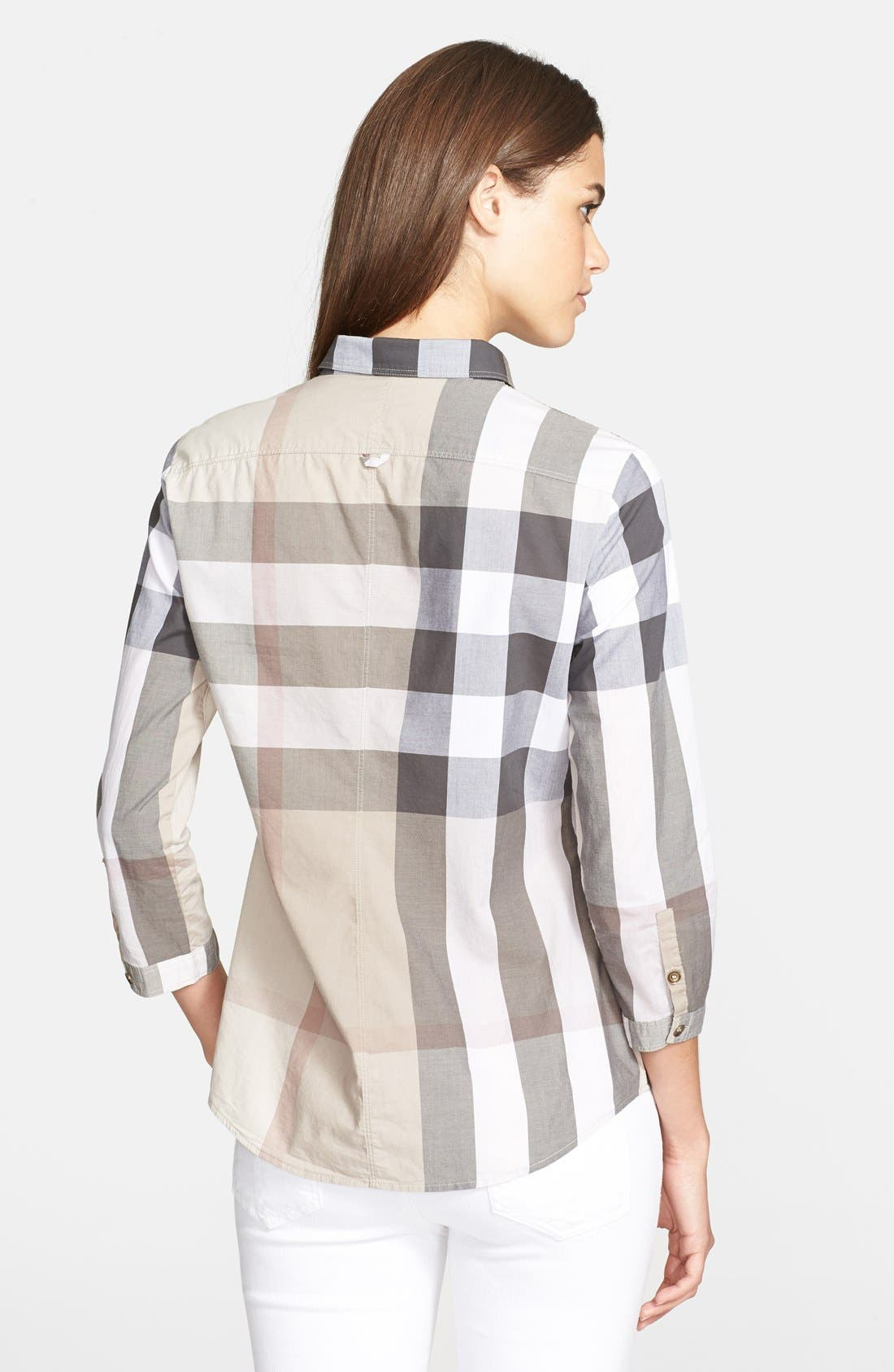 Alternate Image 2  - Burberry Brit Pieced Check Shirt