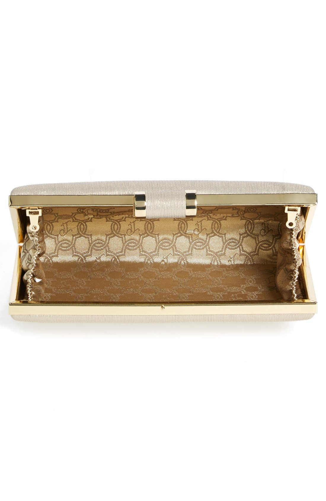 Alternate Image 3  - Ivanka Trump Faux Leather Minaudiere Clutch