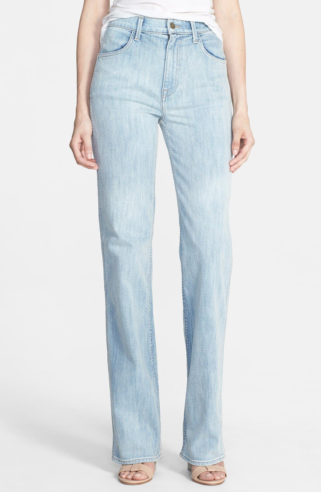 Main Image - Wildfox 'Luca' High Rise Straight Leg Jeans (Faithful)