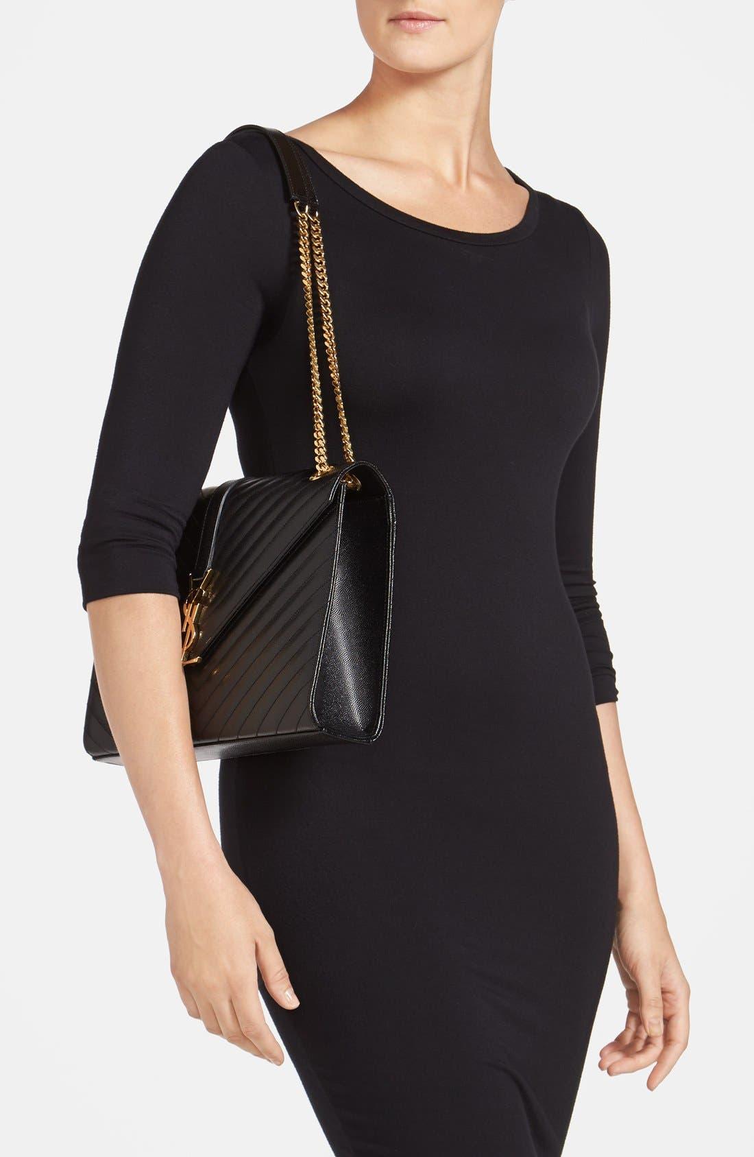 Alternate Image 2  - Saint Laurent 'Monogram' Leather Shoulder Bag