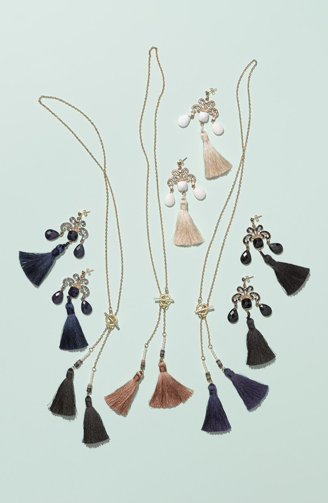 Alternate Image 2  - Tildon Tasseled Drop Earrings