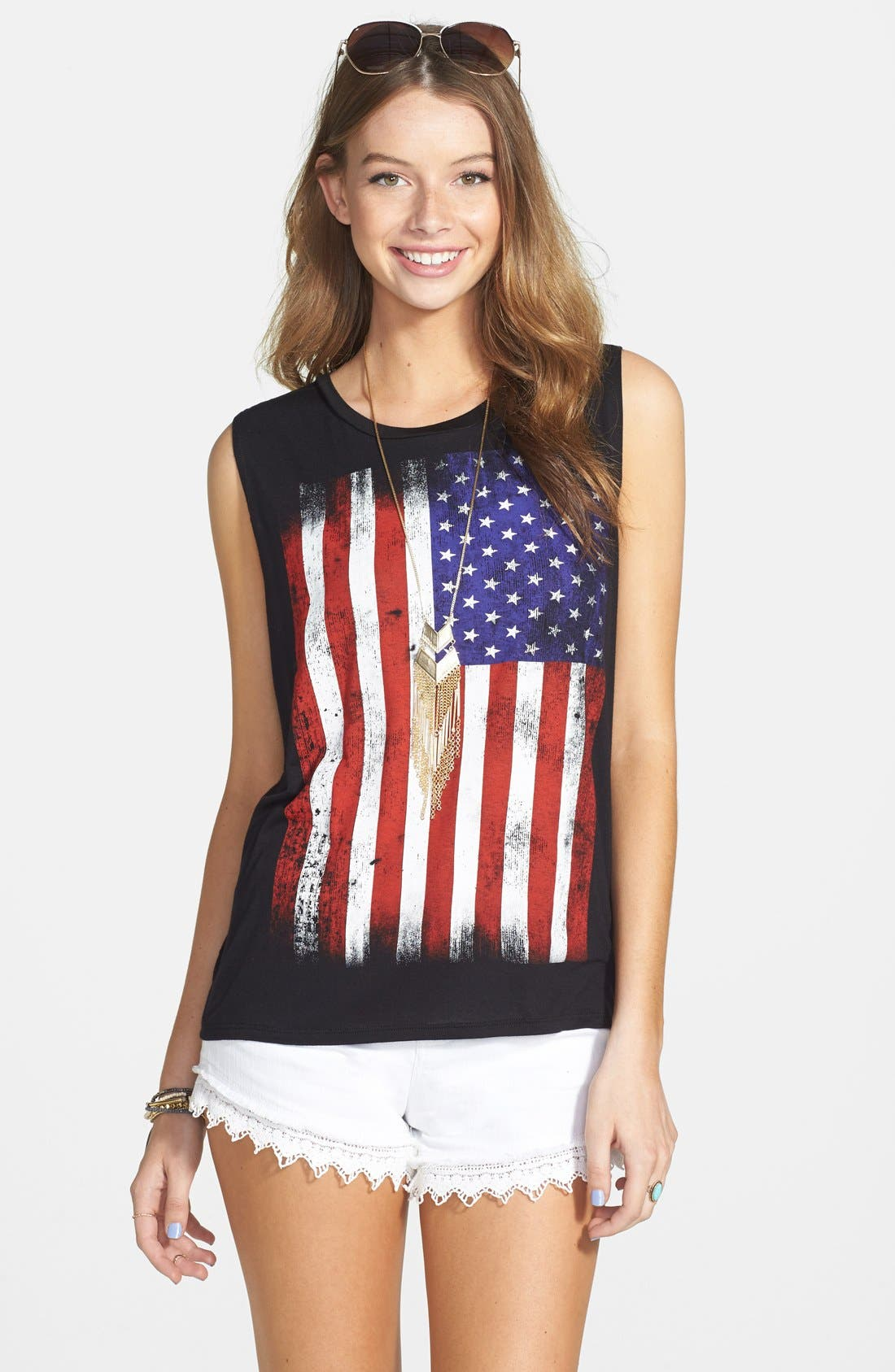 Alternate Image 1 Selected - Rossmore Flag Graphic Muscle Tee (Juniors)