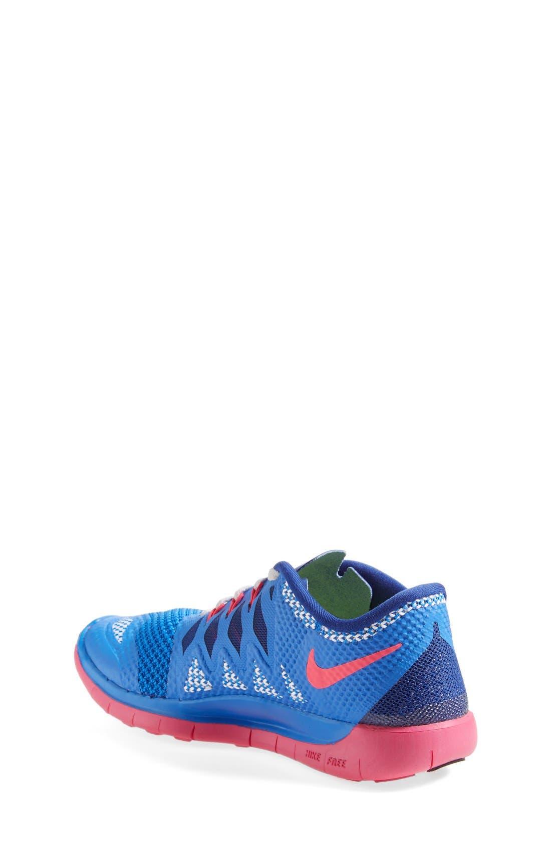 Alternate Image 2  - Nike 'Free 5.0' Running Shoe (Big Kid)