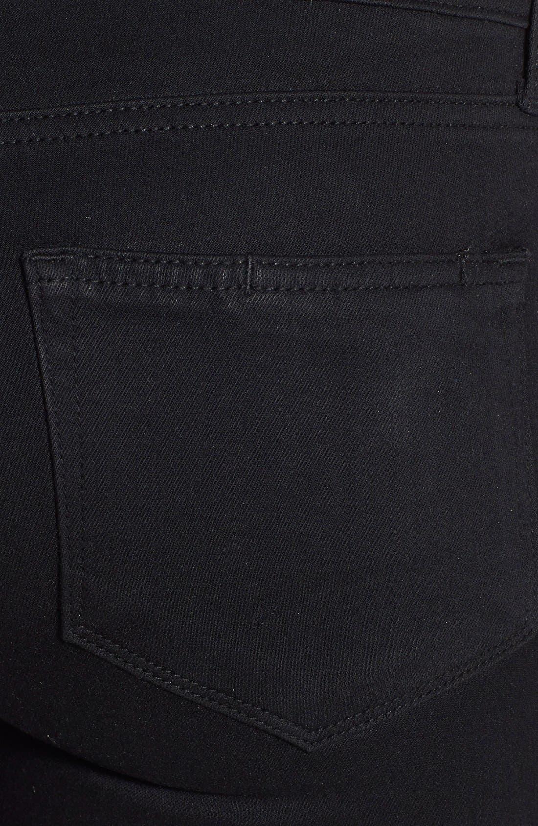 Alternate Image 3  - PAIGE Transcend - Skyline Skinny Jeans (Black Shadow)