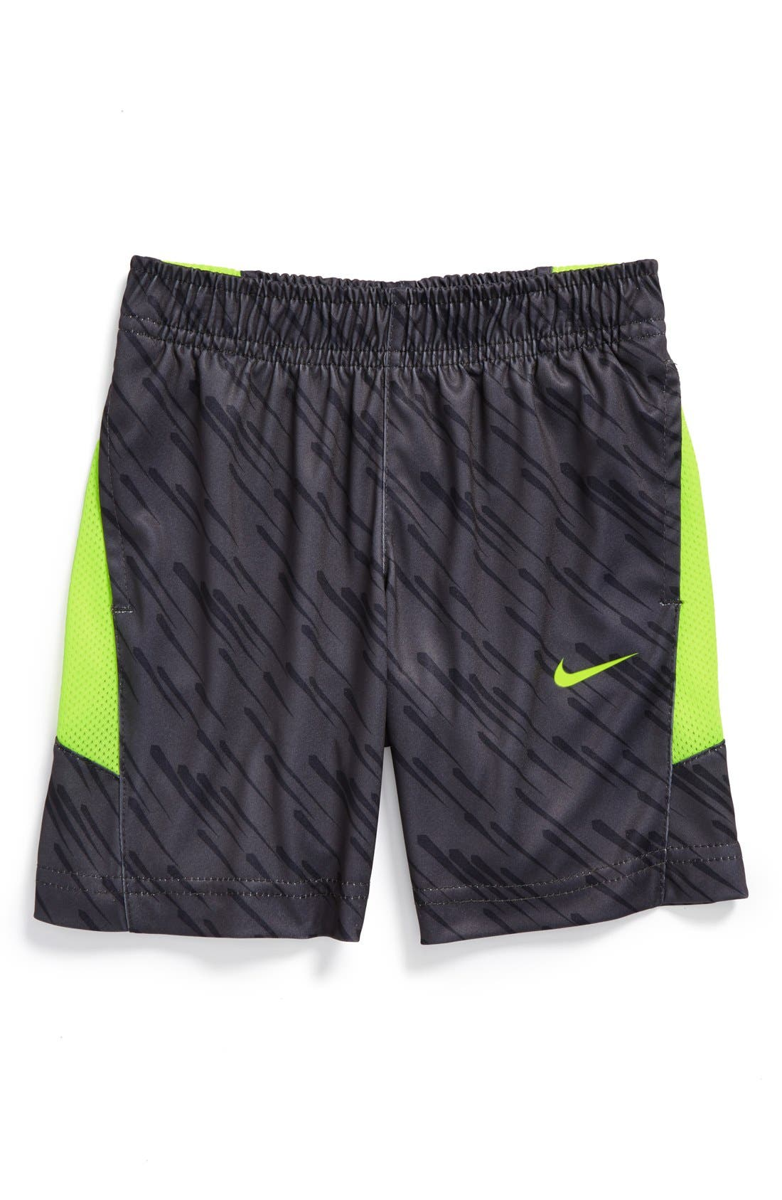 Alternate Image 1 Selected - Nike 'Speed GFX' Dri-FIT Shorts (Toddler Boys)