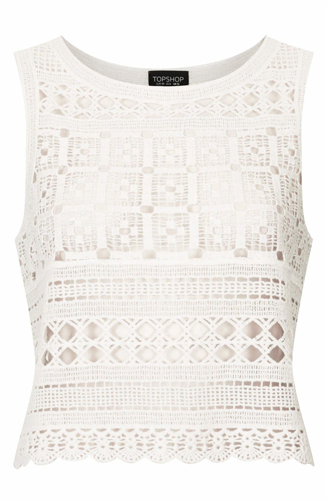 Alternate Image 3  - Topshop Crochet Tank