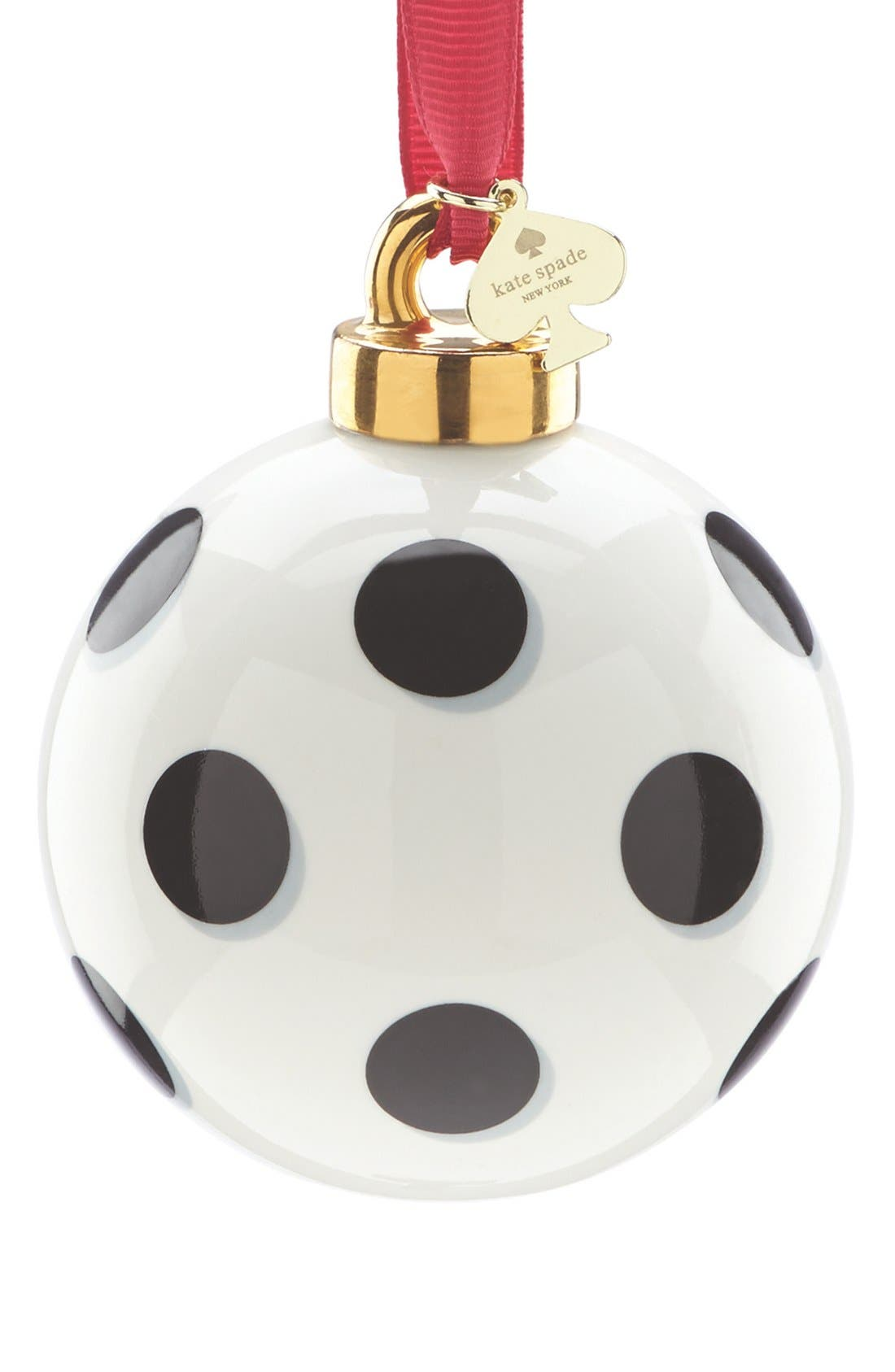 Alternate Image 1 Selected - kate spade new york spots globe ornament