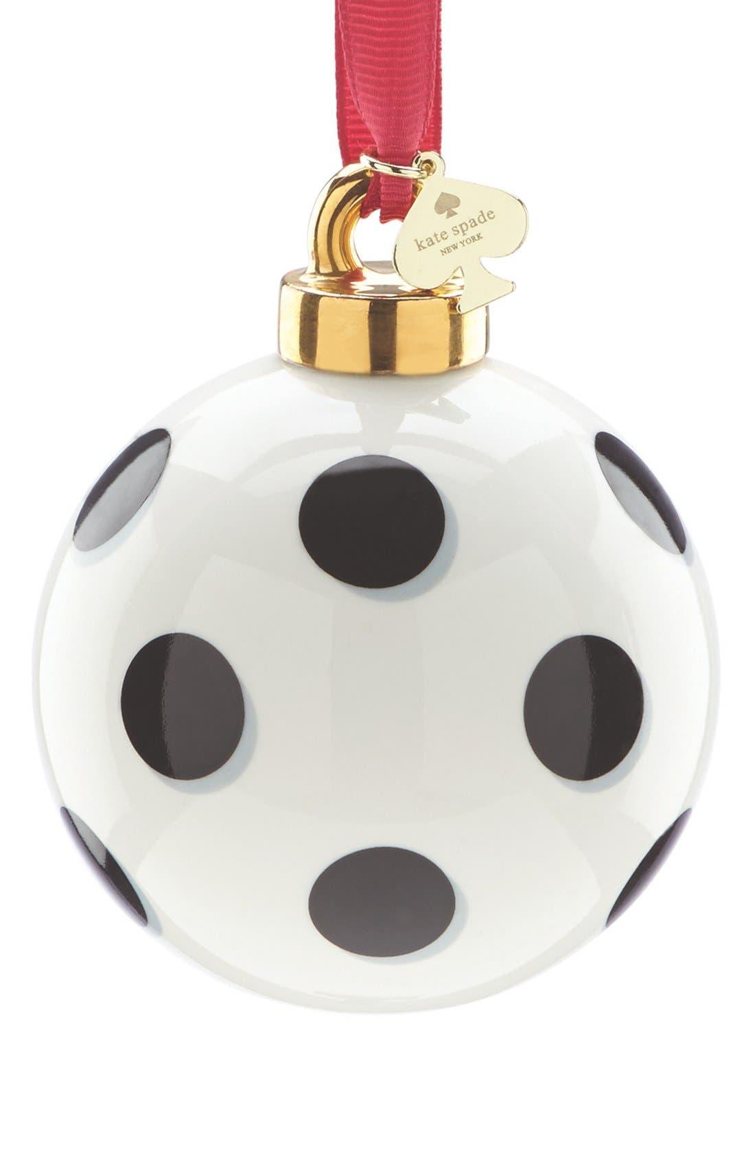spots globe ornament,                         Main,                         color, White