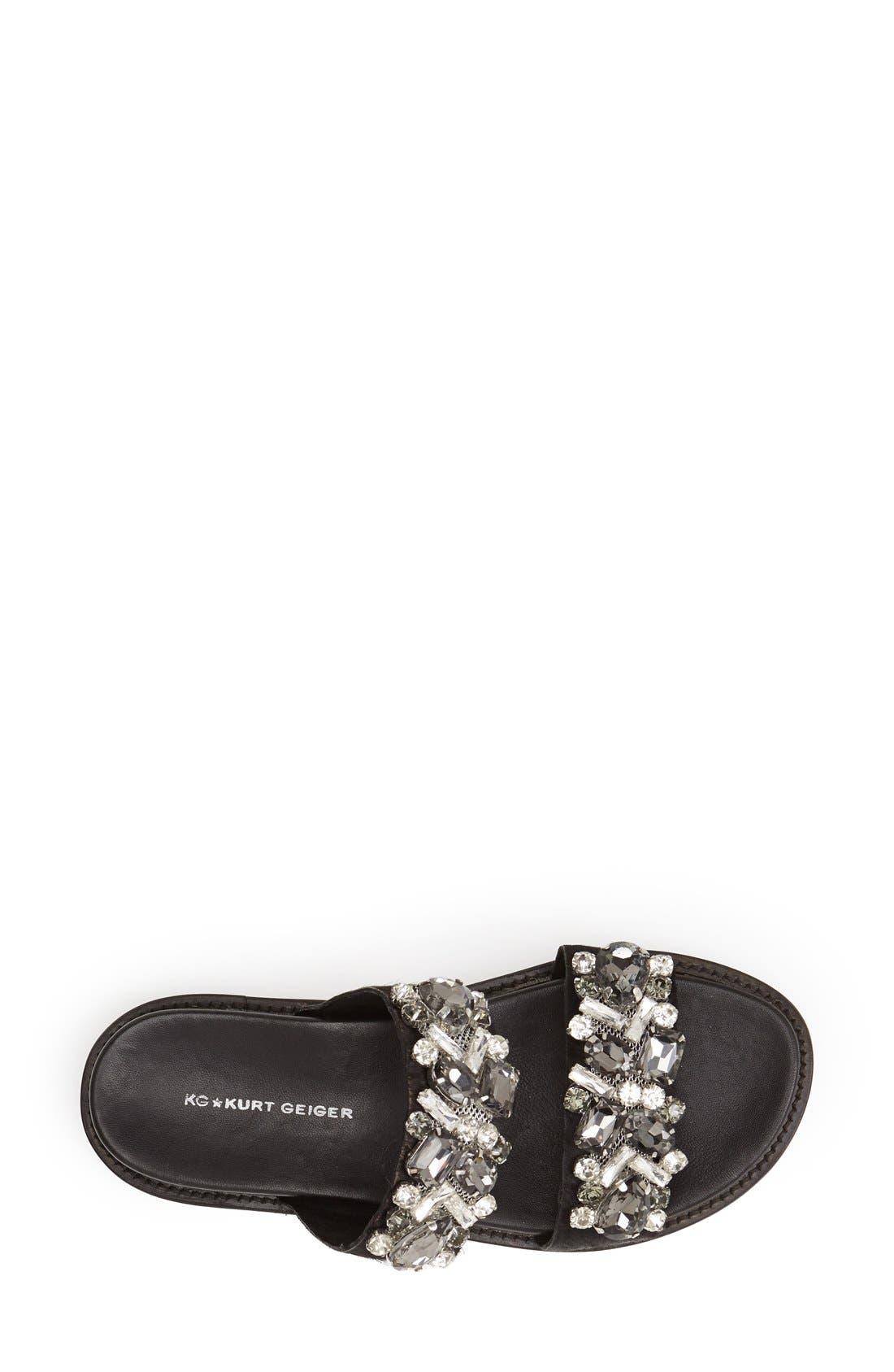 Alternate Image 3  - KG Kurt Geiger 'Monarch' Embellished Calf Hair Slide Sandal (Women)