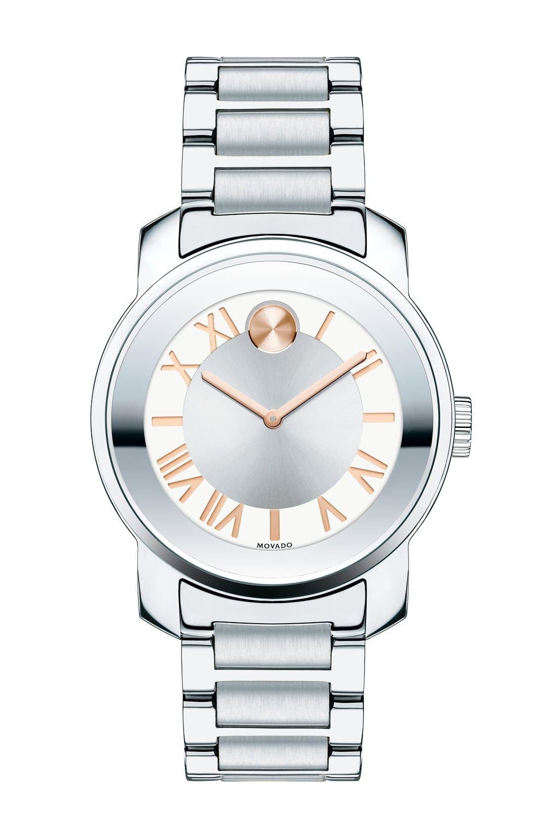 'Bold' Bracelet Watch, 32mm,                             Main thumbnail 1, color,                             Silver/ Rose Gold