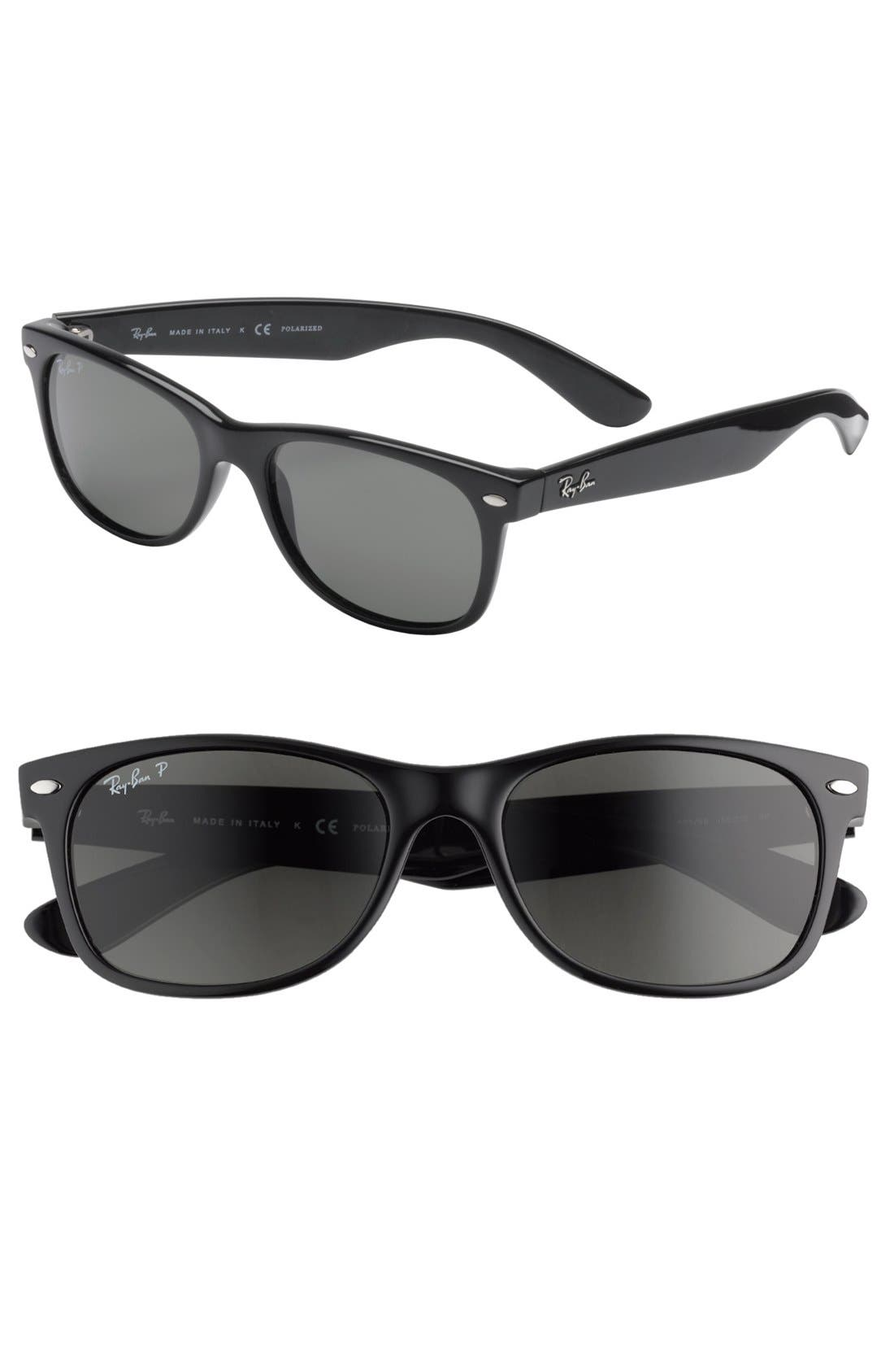 Main Image - Ray-Ban 'New Wayfarer' 55mm Polarized Sunglasses