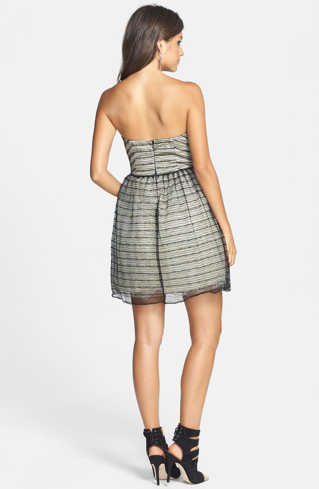 Alternate Image 2  - a. drea Glitter Textured Fit & Flare Dress (Juniors)