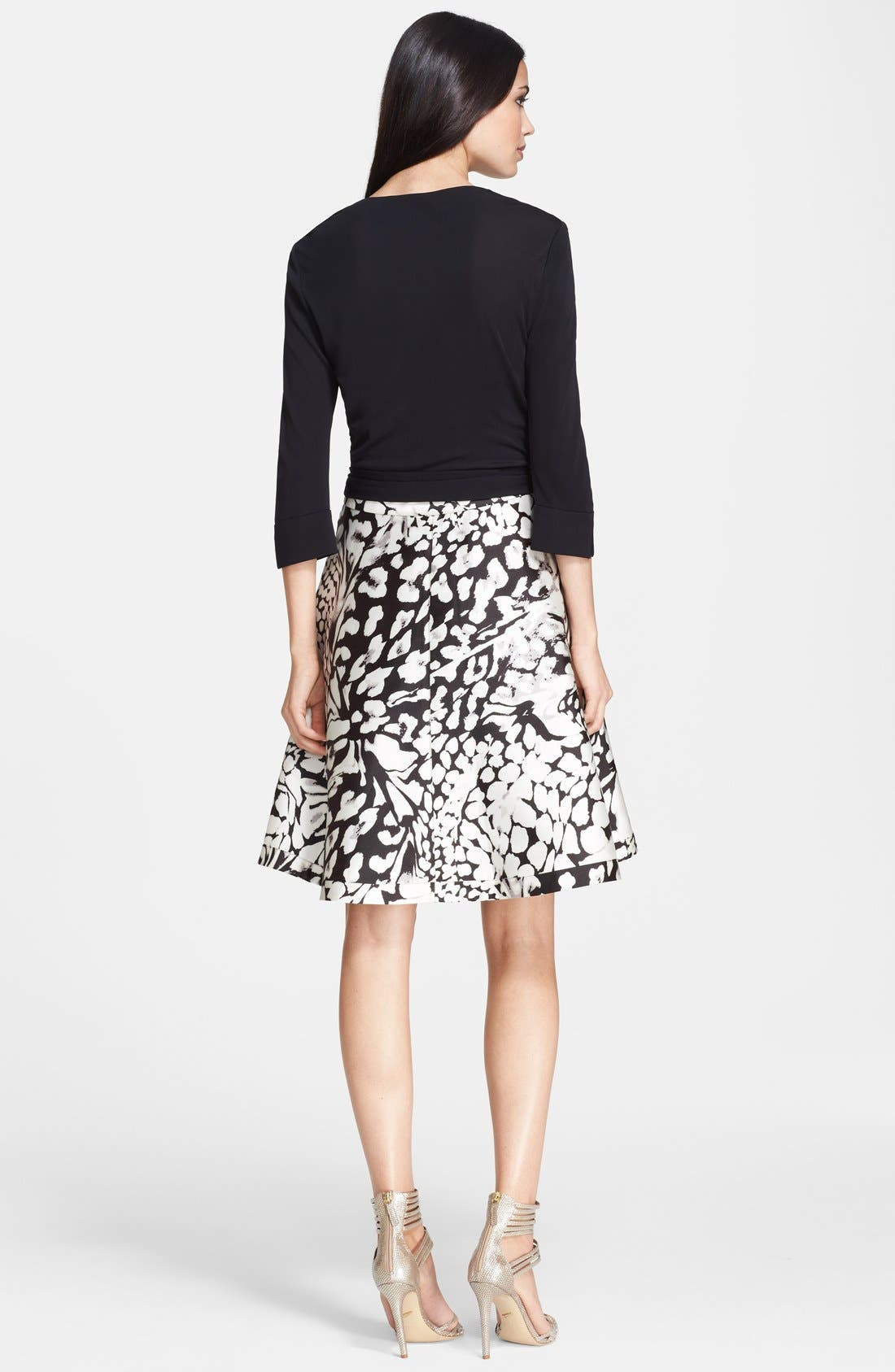 Alternate Image 2  - Diane von Furstenberg 'Amelia' Cotton Blend Wrap Dress