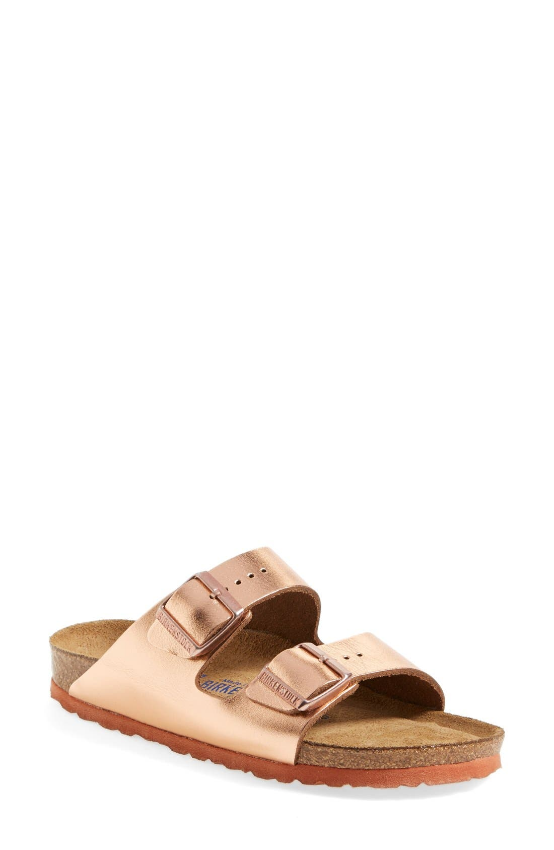 Alternate Image 1 Selected - Birkenstock 'Arizona' Soft Footbed Leather Sandal (Women)