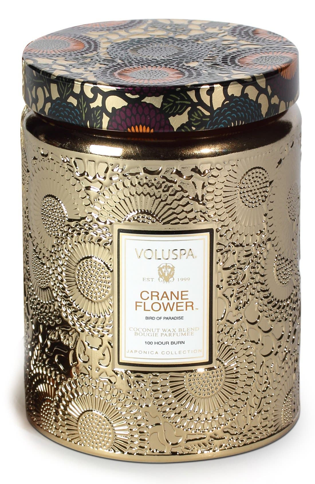 Voluspa Japonica - Crane Flower Large Embossed Jar Candle