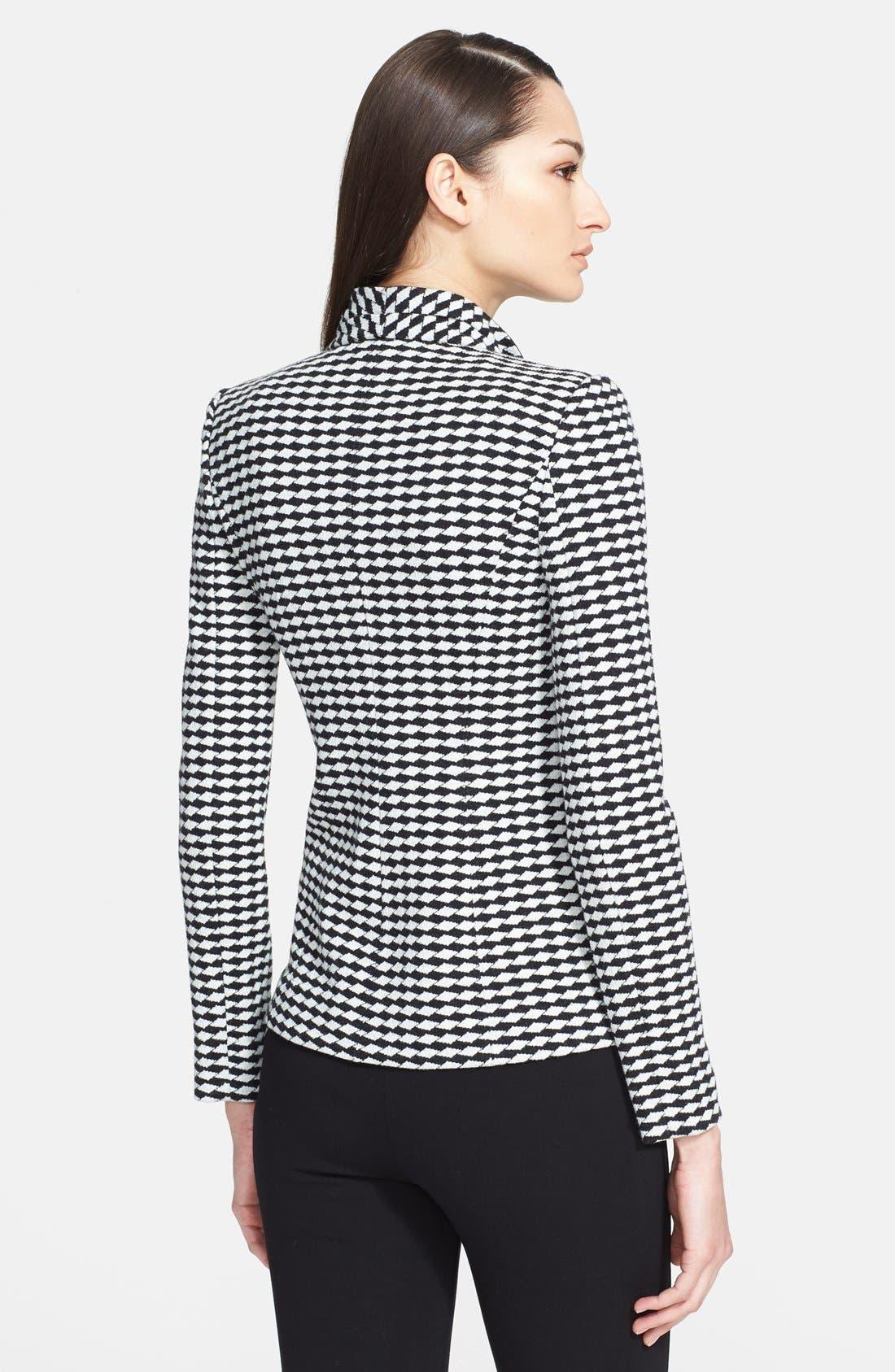 Alternate Image 2  - Armani Collezioni Asymmetrical Jacquard Jersey Jacket