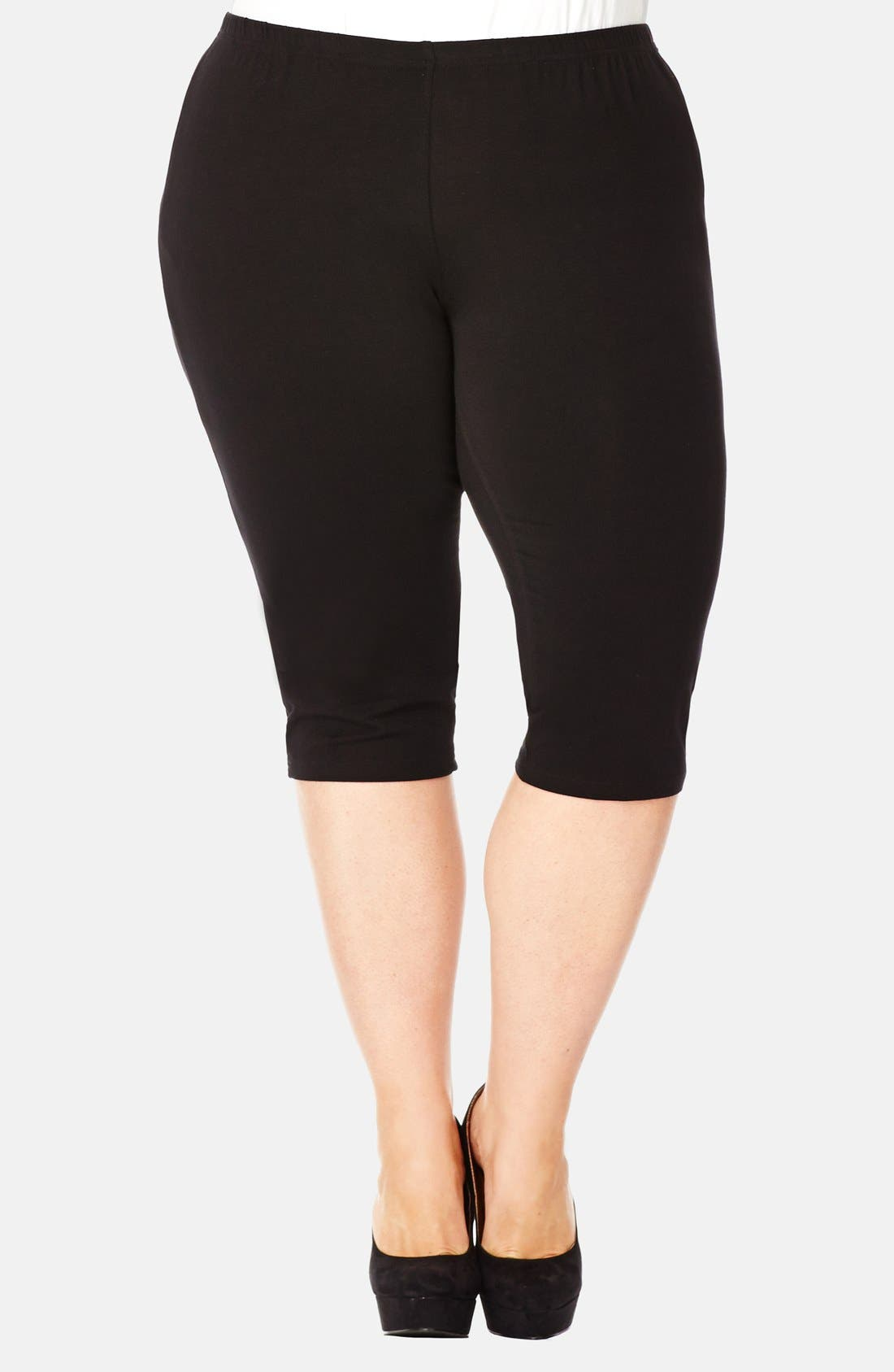 Alternate Image 1 Selected - City Chic Three-Quarter-Length Leggings (Plus Size)
