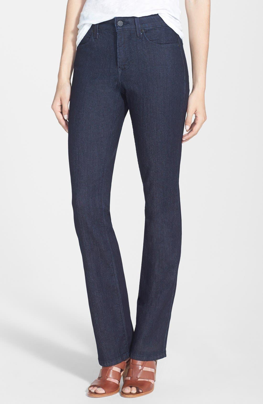 NYDJ 'Billie' Stretch Mini Bootcut Jeans (Dark Enzyme) (Regular & Petite)